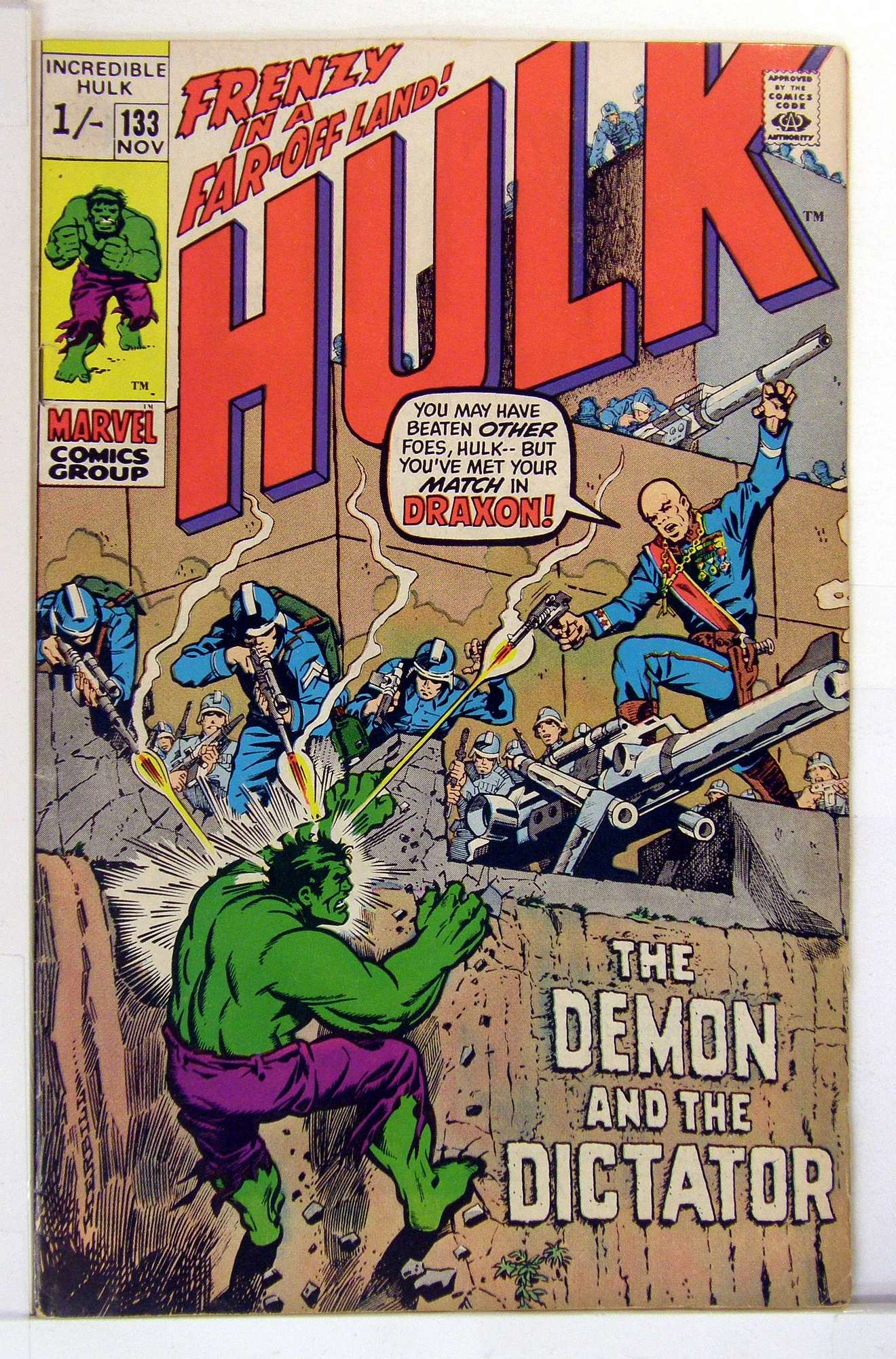 Cover of Incredible Hulk (Vol 2) #133. One of 250,000 Vintage American Comics on sale from Krypton!