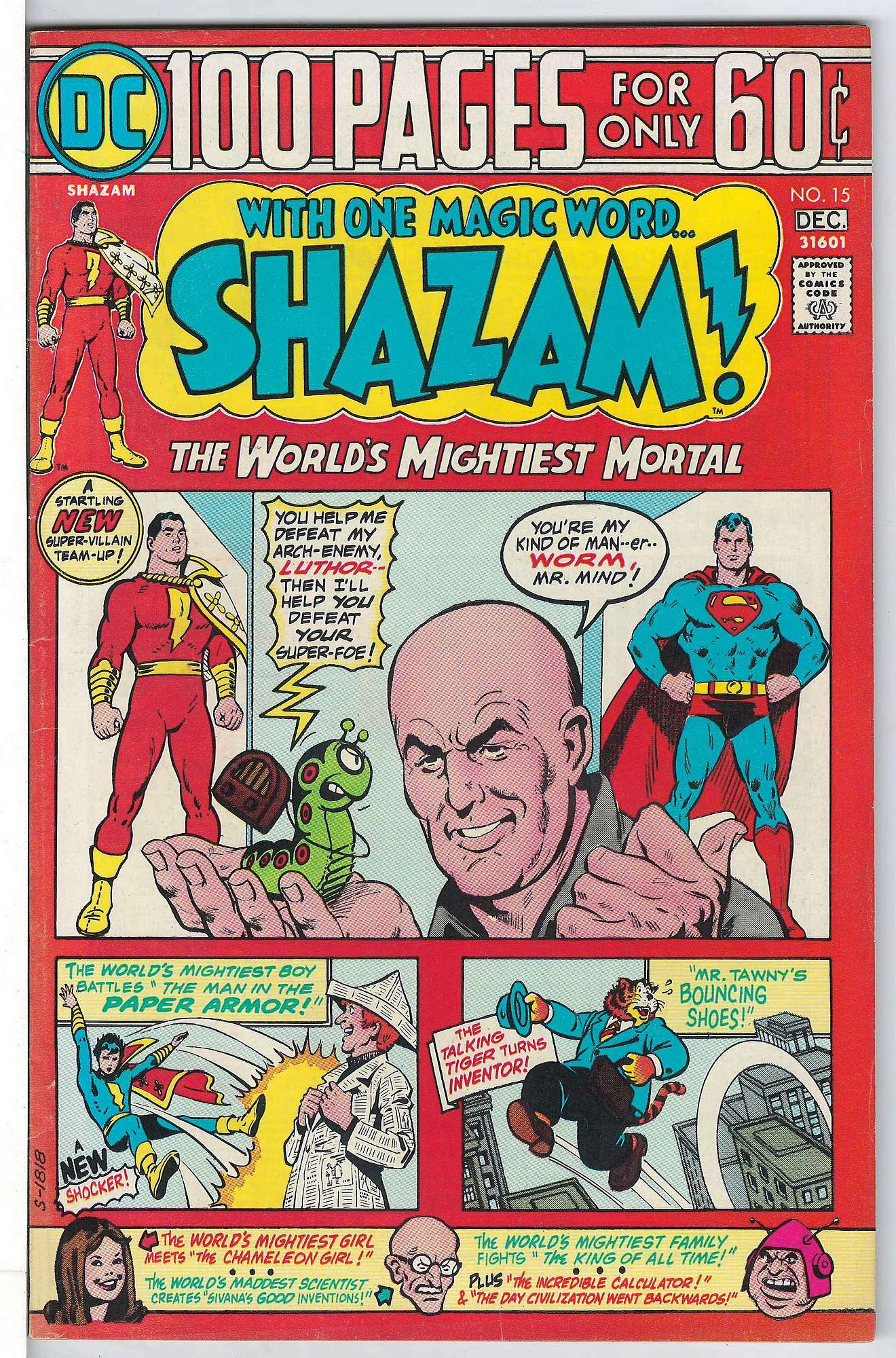 Cover of Shazam! (Vol 1) #15. One of 250,000 Vintage American Comics on sale from Krypton!