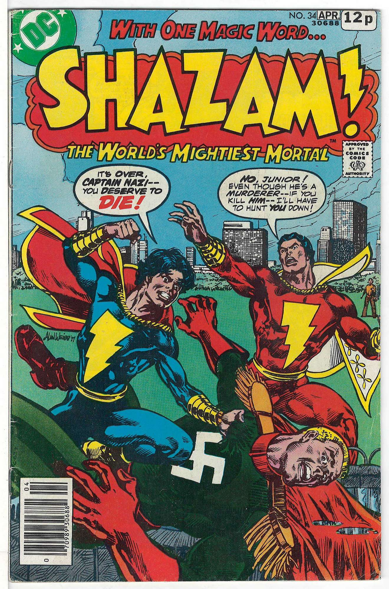 Cover of Shazam! (Vol 1) #34. One of 250,000 Vintage American Comics on sale from Krypton!