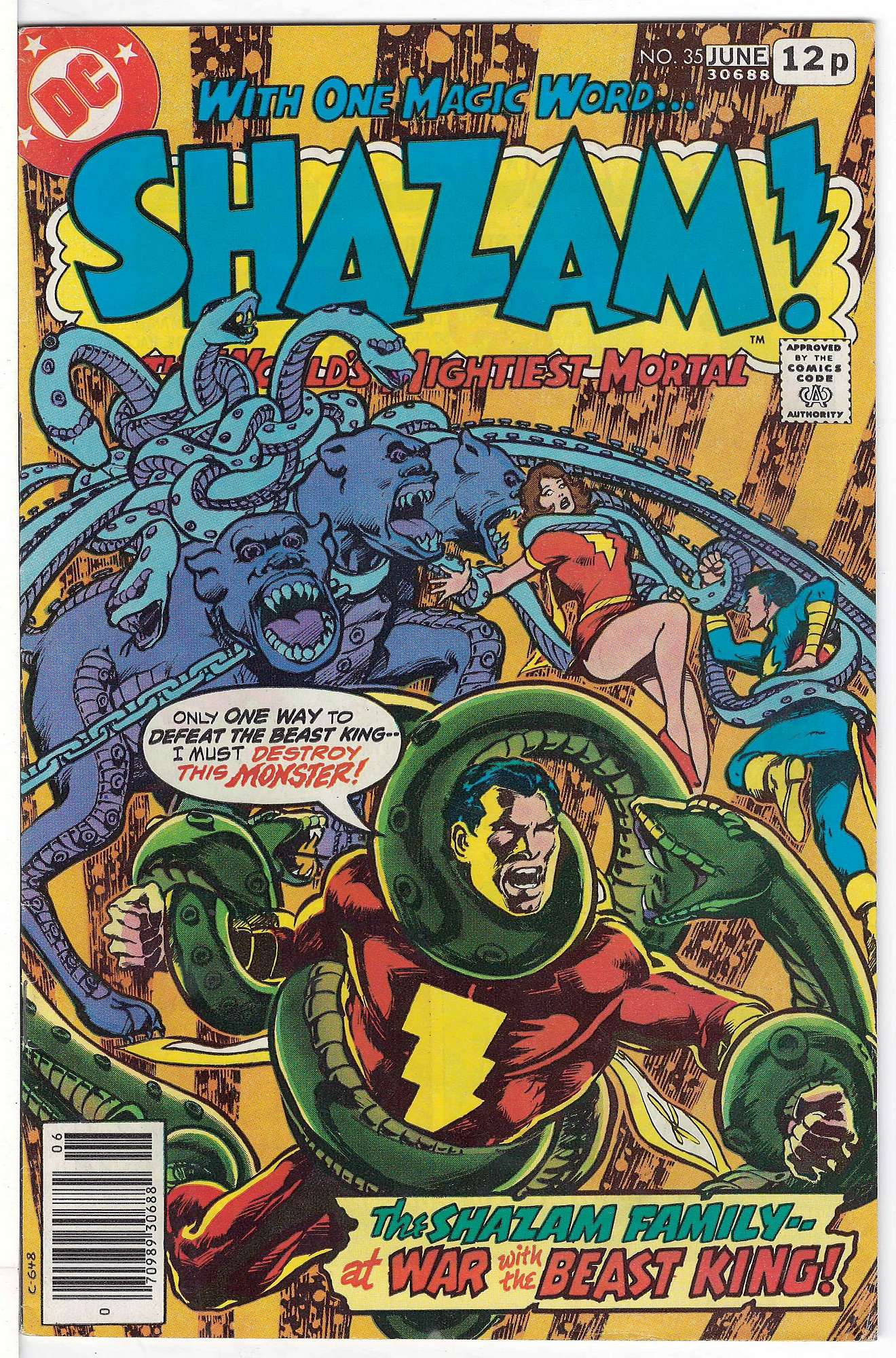 Cover of Shazam! (Vol 1) #35. One of 250,000 Vintage American Comics on sale from Krypton!