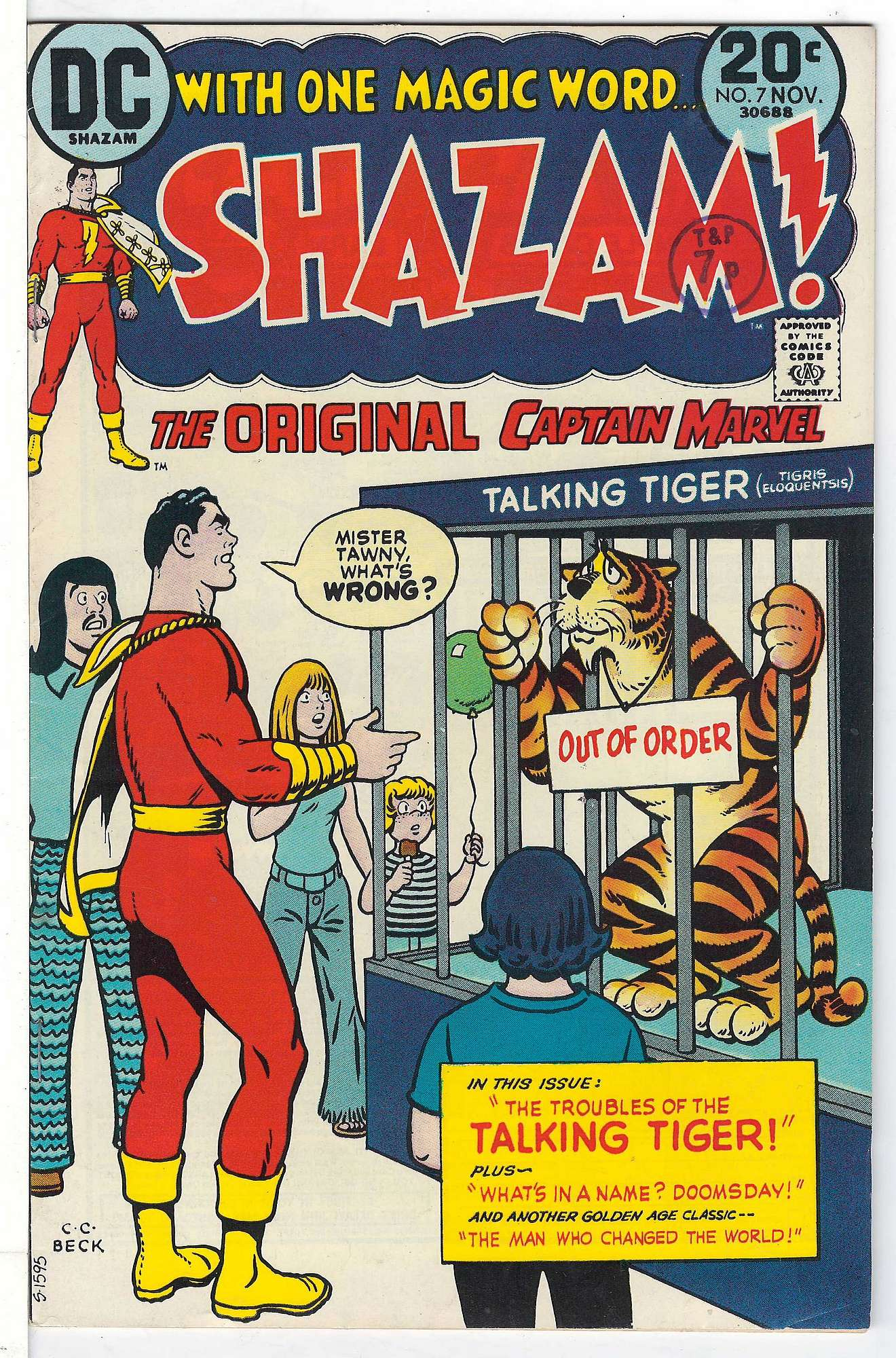 Cover of Shazam! (Vol 1) #7. One of 250,000 Vintage American Comics on sale from Krypton!