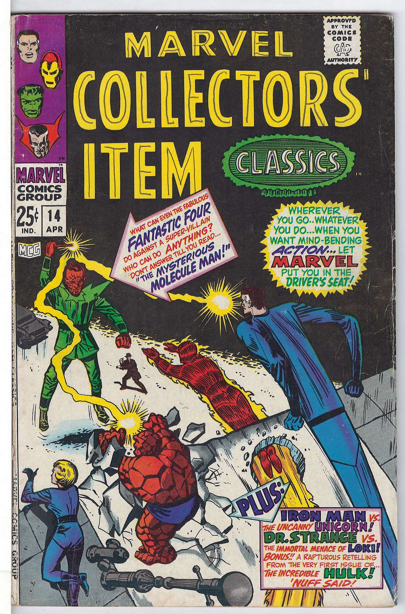 Cover of Marvel Collectors Item Classics (Vol 1) #14. One of 250,000 Vintage American Comics on sale from Krypton!