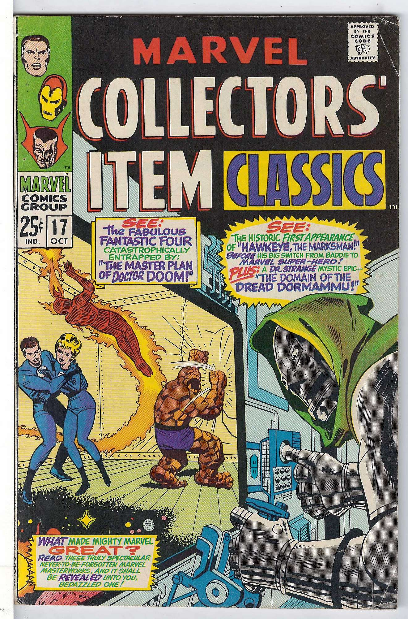 Cover of Marvel Collectors Item Classics (Vol 1) #17. One of 250,000 Vintage American Comics on sale from Krypton!