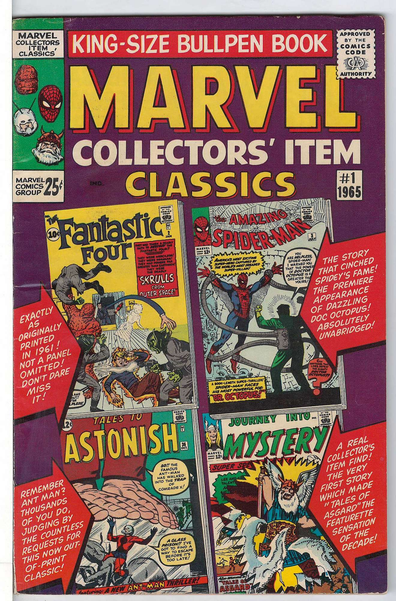 Cover of Marvel Collectors Item Classics (Vol 1) #1. One of 250,000 Vintage American Comics on sale from Krypton!