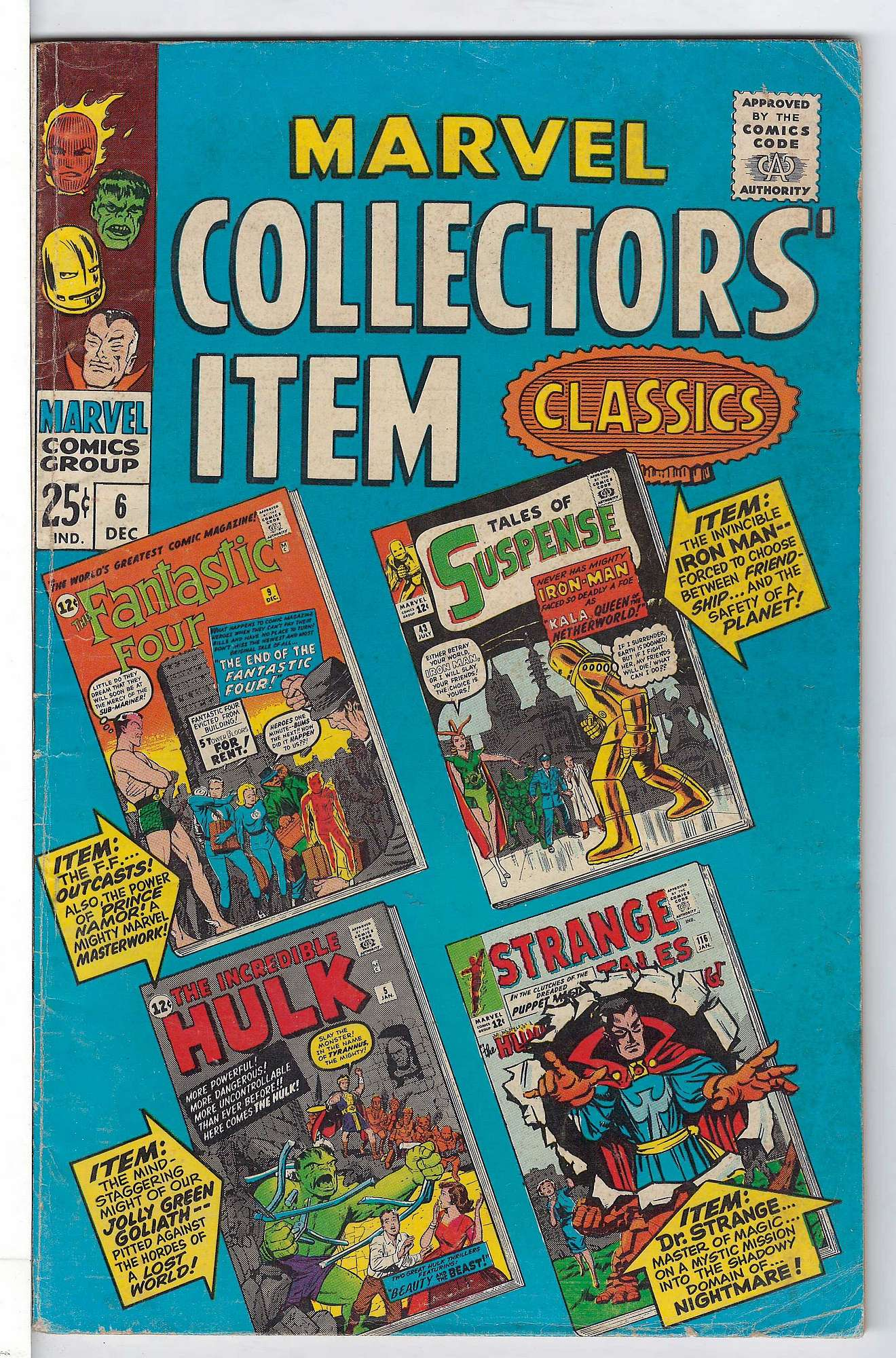 Cover of Marvel Collectors Item Classics (Vol 1) #6. One of 250,000 Vintage American Comics on sale from Krypton!