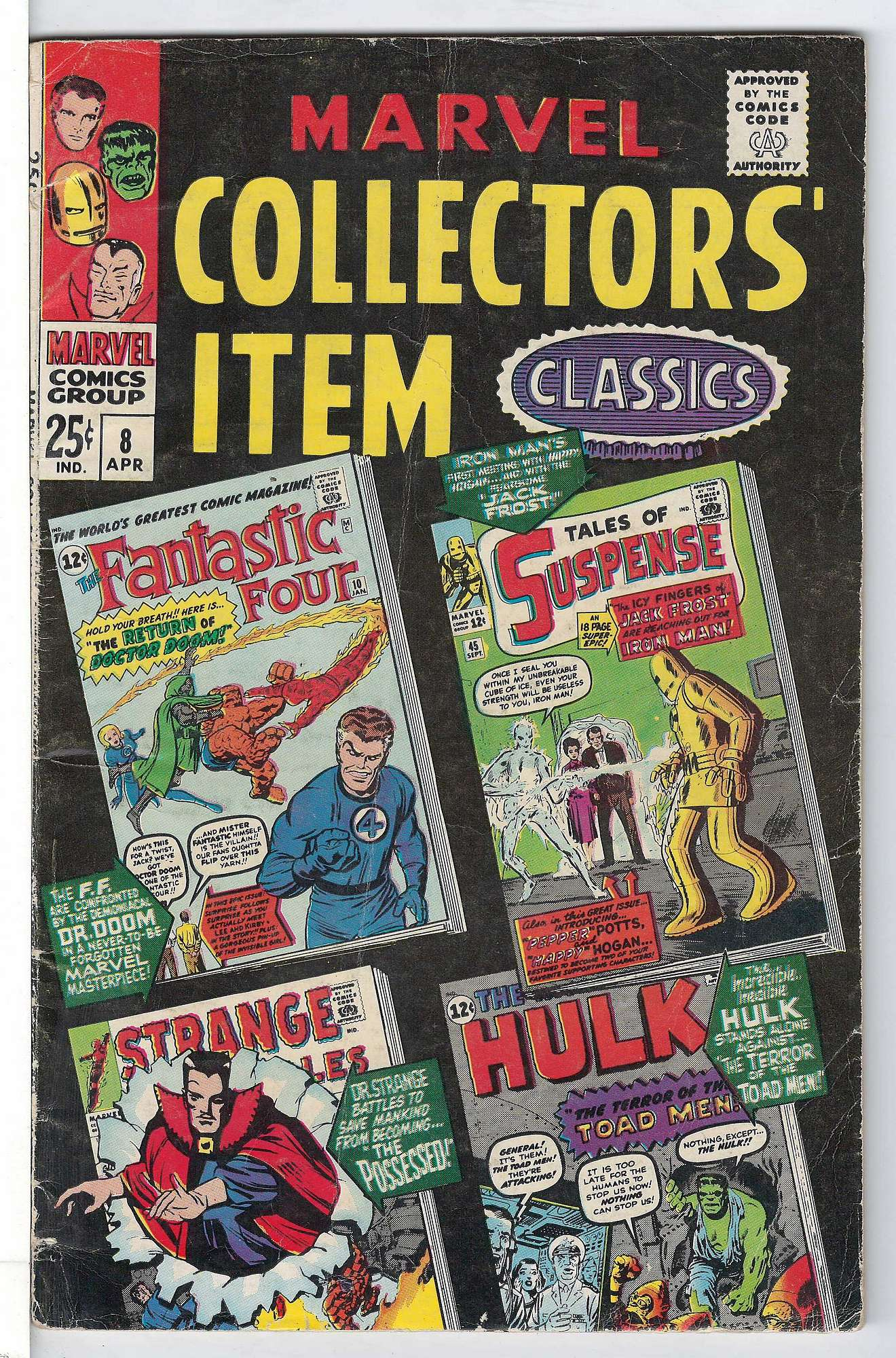 Cover of Marvel Collectors Item Classics (Vol 1) #8. One of 250,000 Vintage American Comics on sale from Krypton!