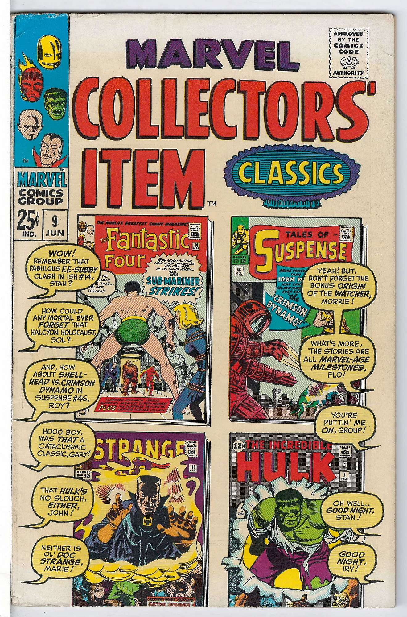 Cover of Marvel Collectors Item Classics (Vol 1) #9. One of 250,000 Vintage American Comics on sale from Krypton!