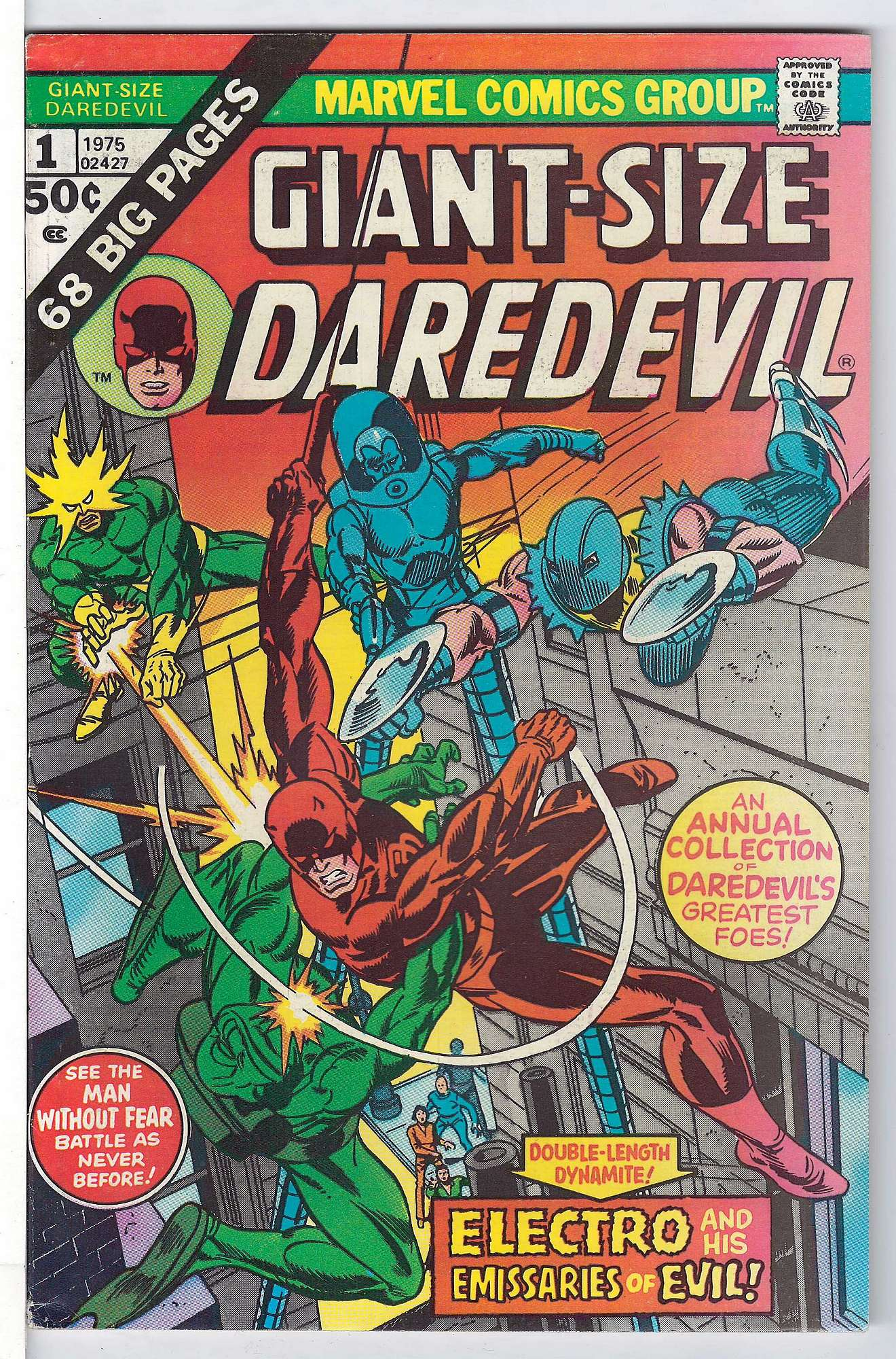Cover of Giant-Size Daredevil (1975 One Shot) #1. One of 250,000 Vintage American Comics on sale from Krypton!