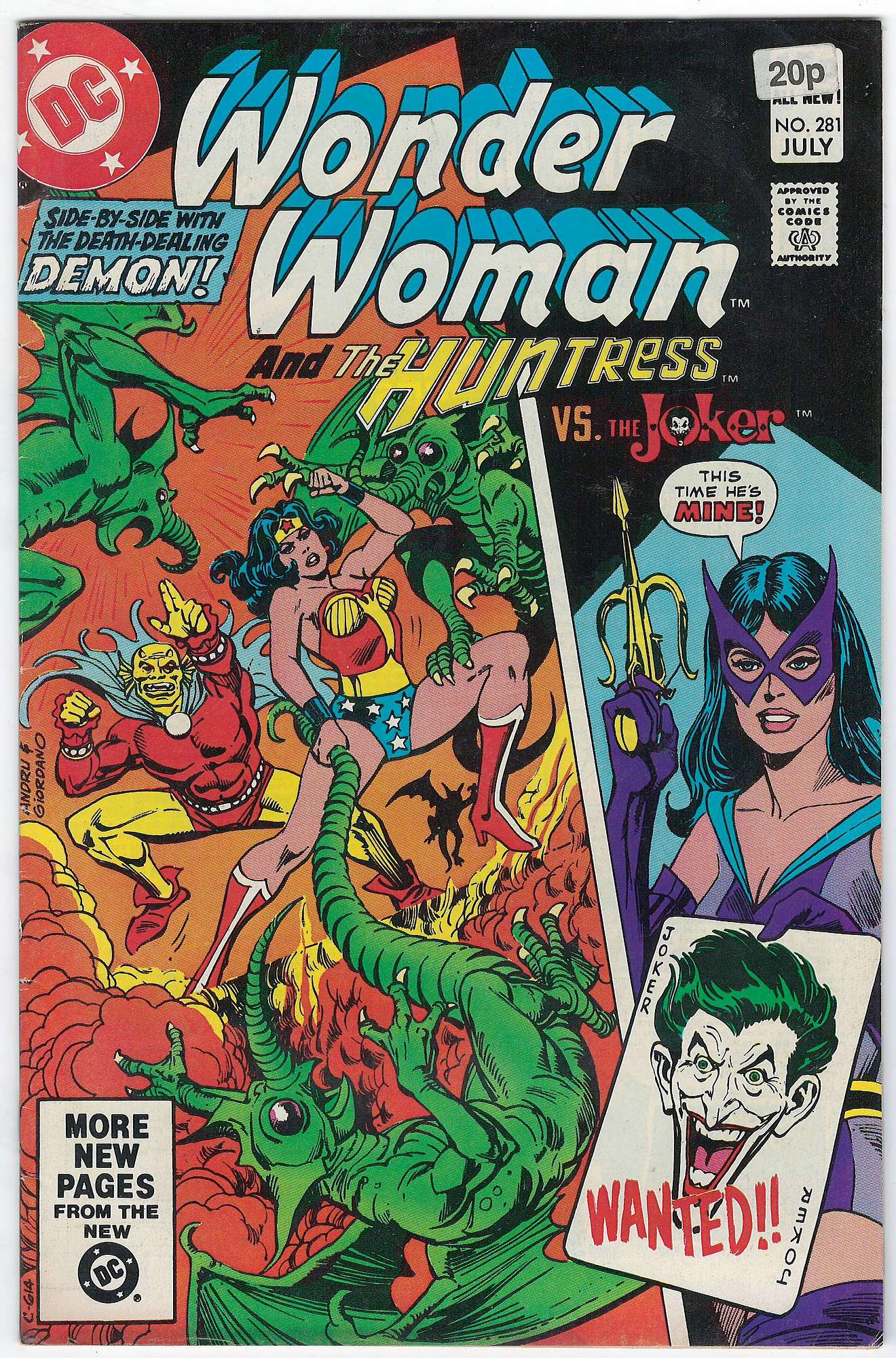 Cover of Wonder Woman (Vol 1) #281. One of 250,000 Vintage American Comics on sale from Krypton!
