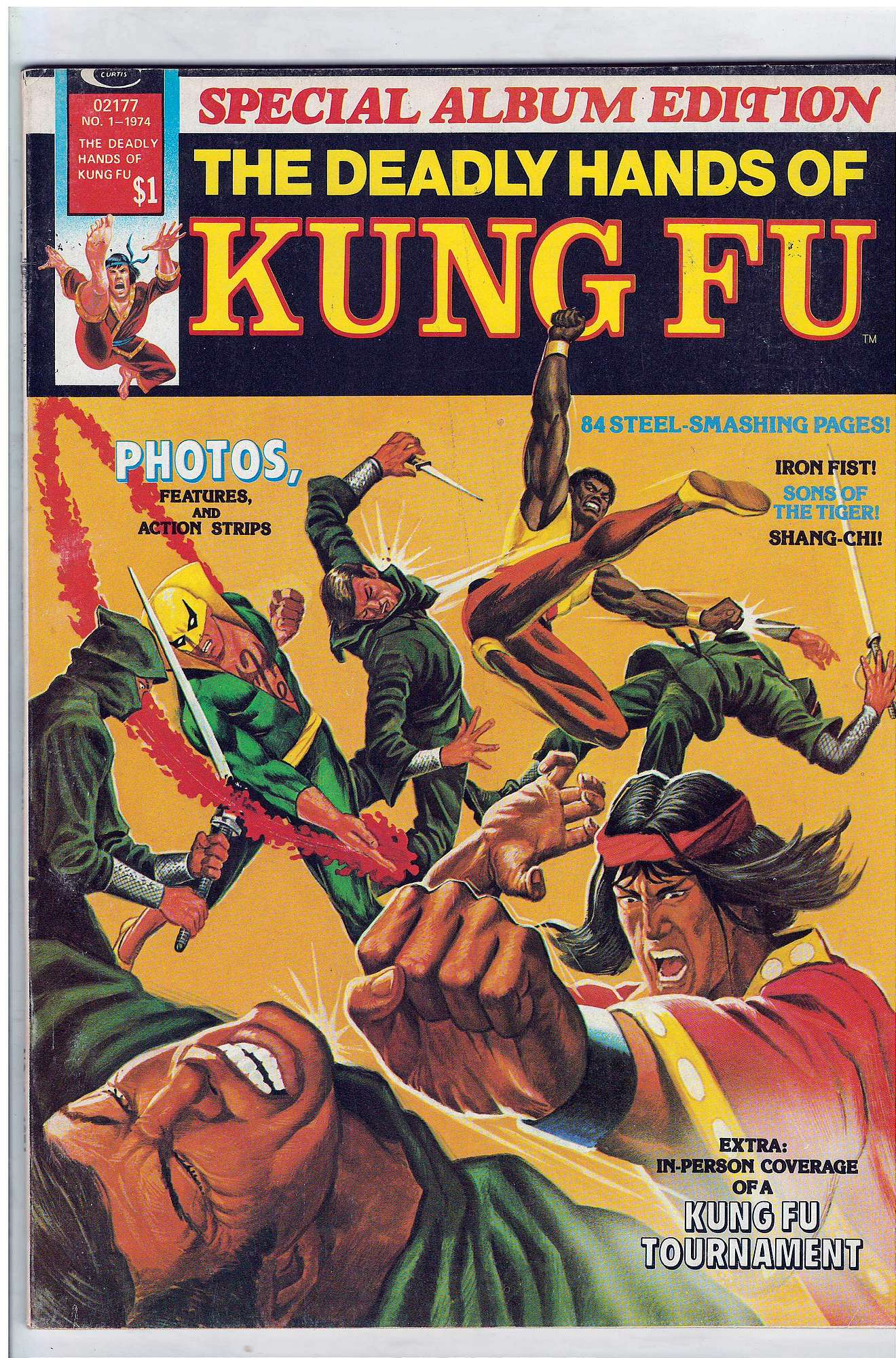 Cover of Deadly Hands of Kung Fu Special Album (Magazine) #1. One of 250,000 Vintage American Comics on sale from Krypton!