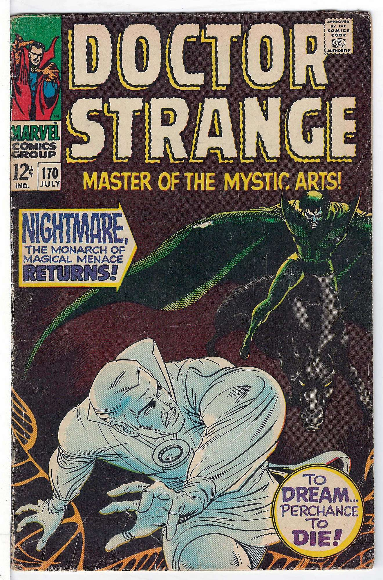 Cover of Doctor Strange (Vol 1) #170. One of 250,000 Vintage American Comics on sale from Krypton!