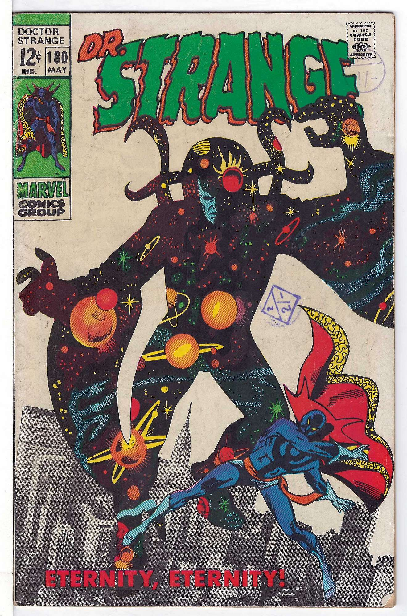 Cover of Doctor Strange (Vol 1) #180. One of 250,000 Vintage American Comics on sale from Krypton!