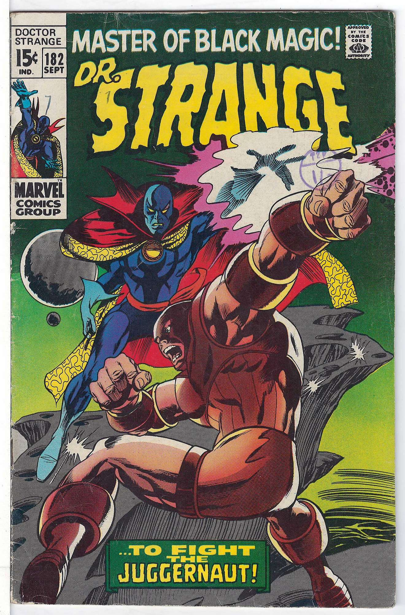 Cover of Doctor Strange (Vol 1) #182. One of 250,000 Vintage American Comics on sale from Krypton!