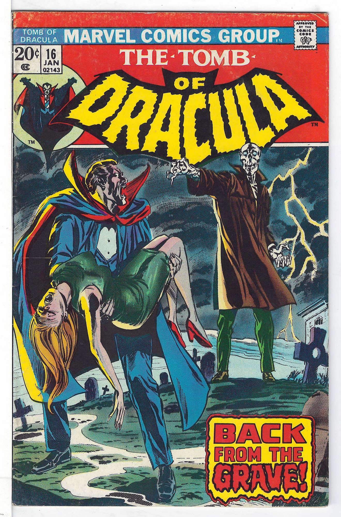 Cover of Tomb of Dracula (Vol 1) #16. One of 250,000 Vintage American Comics on sale from Krypton!