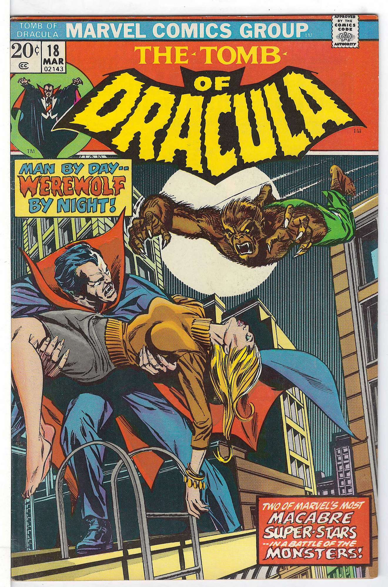 Cover of Tomb of Dracula (Vol 1) #18. One of 250,000 Vintage American Comics on sale from Krypton!