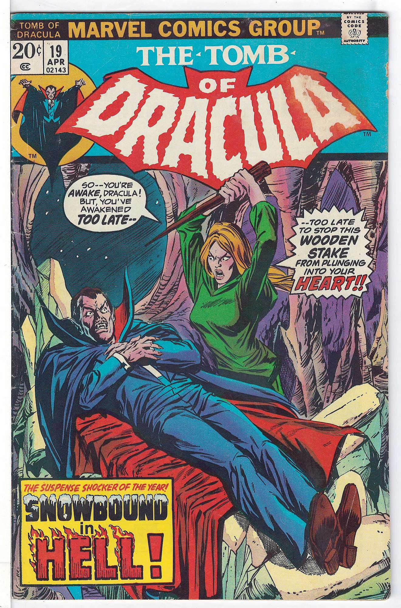 Cover of Tomb of Dracula (Vol 1) #19. One of 250,000 Vintage American Comics on sale from Krypton!