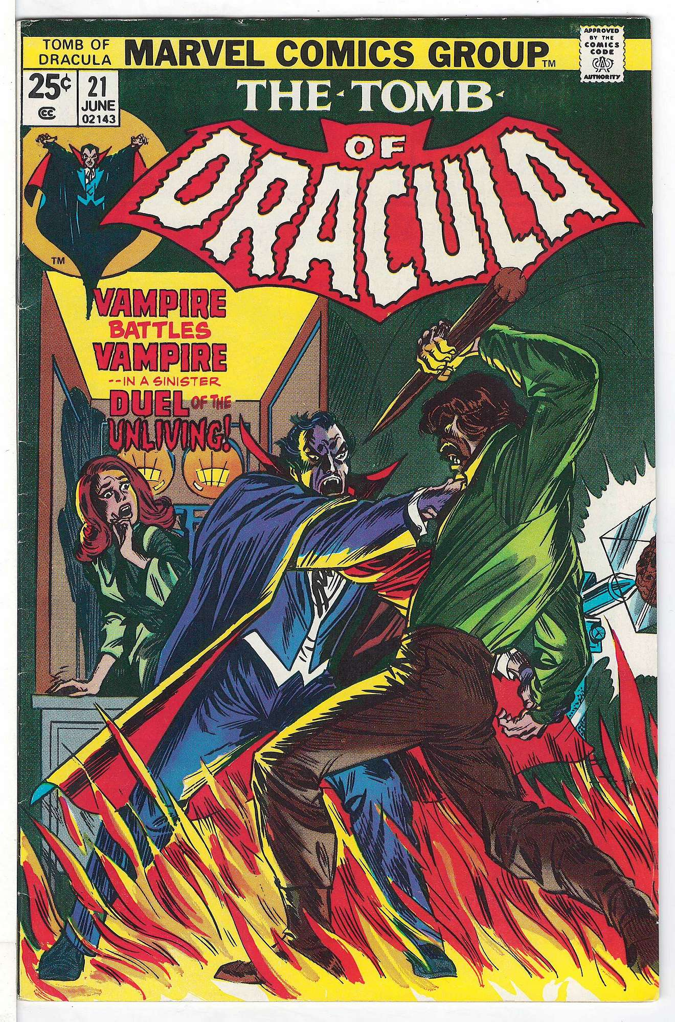 Cover of Tomb of Dracula (Vol 1) #21. One of 250,000 Vintage American Comics on sale from Krypton!