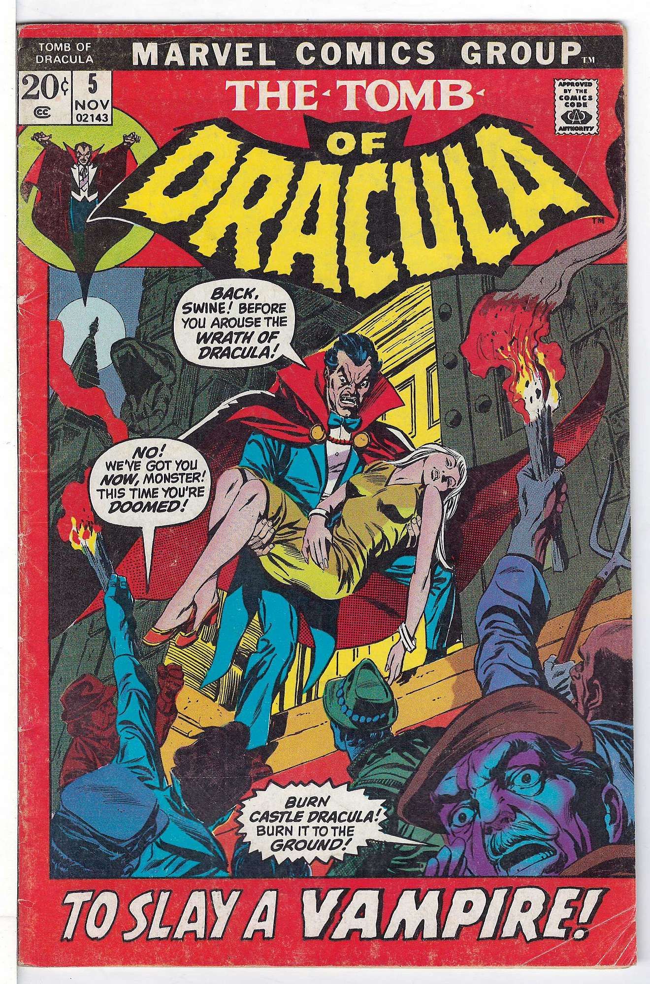 Cover of Tomb of Dracula (Vol 1) #5. One of 250,000 Vintage American Comics on sale from Krypton!