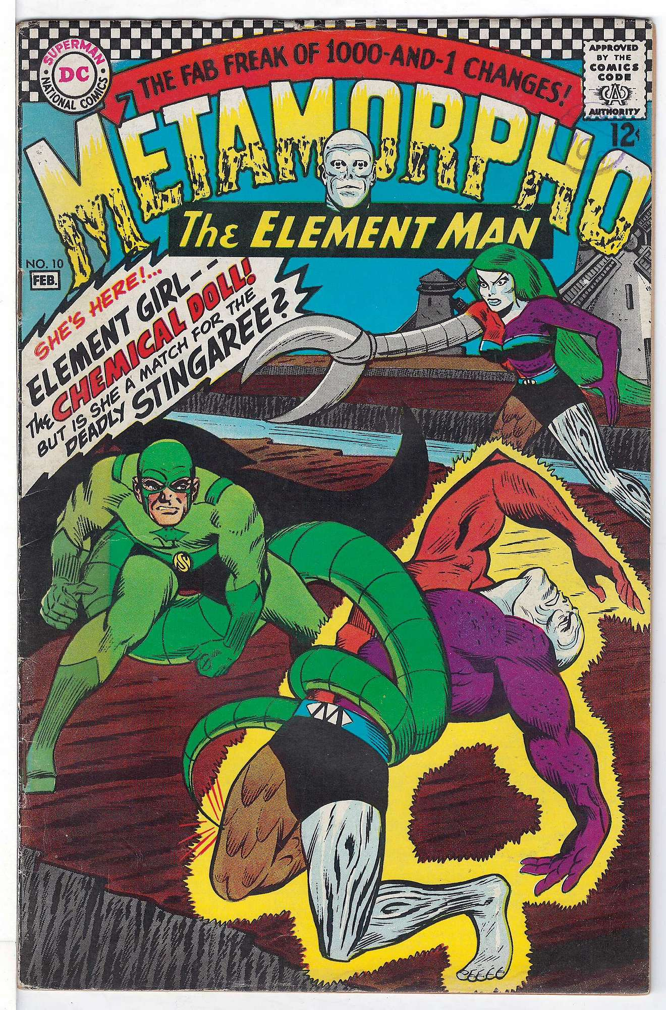 Cover of Metamorpho (Vol 1) #10. One of 250,000 Vintage American Comics on sale from Krypton!