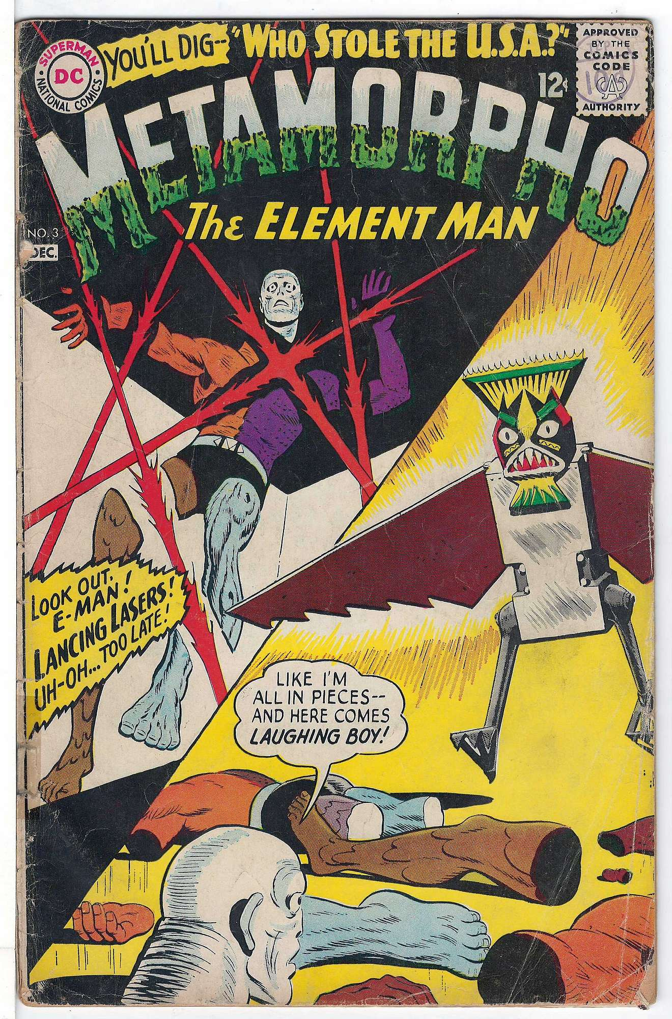 Cover of Metamorpho (Vol 1) #3. One of 250,000 Vintage American Comics on sale from Krypton!