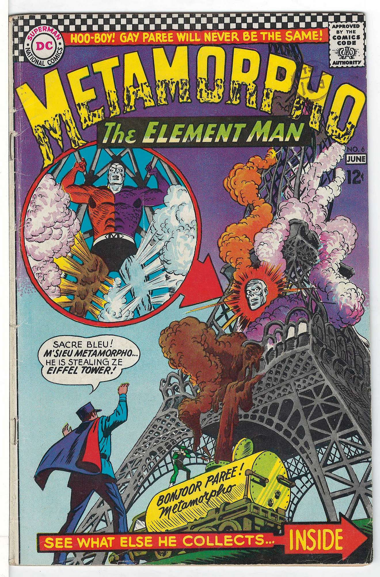 Cover of Metamorpho (Vol 1) #6. One of 250,000 Vintage American Comics on sale from Krypton!