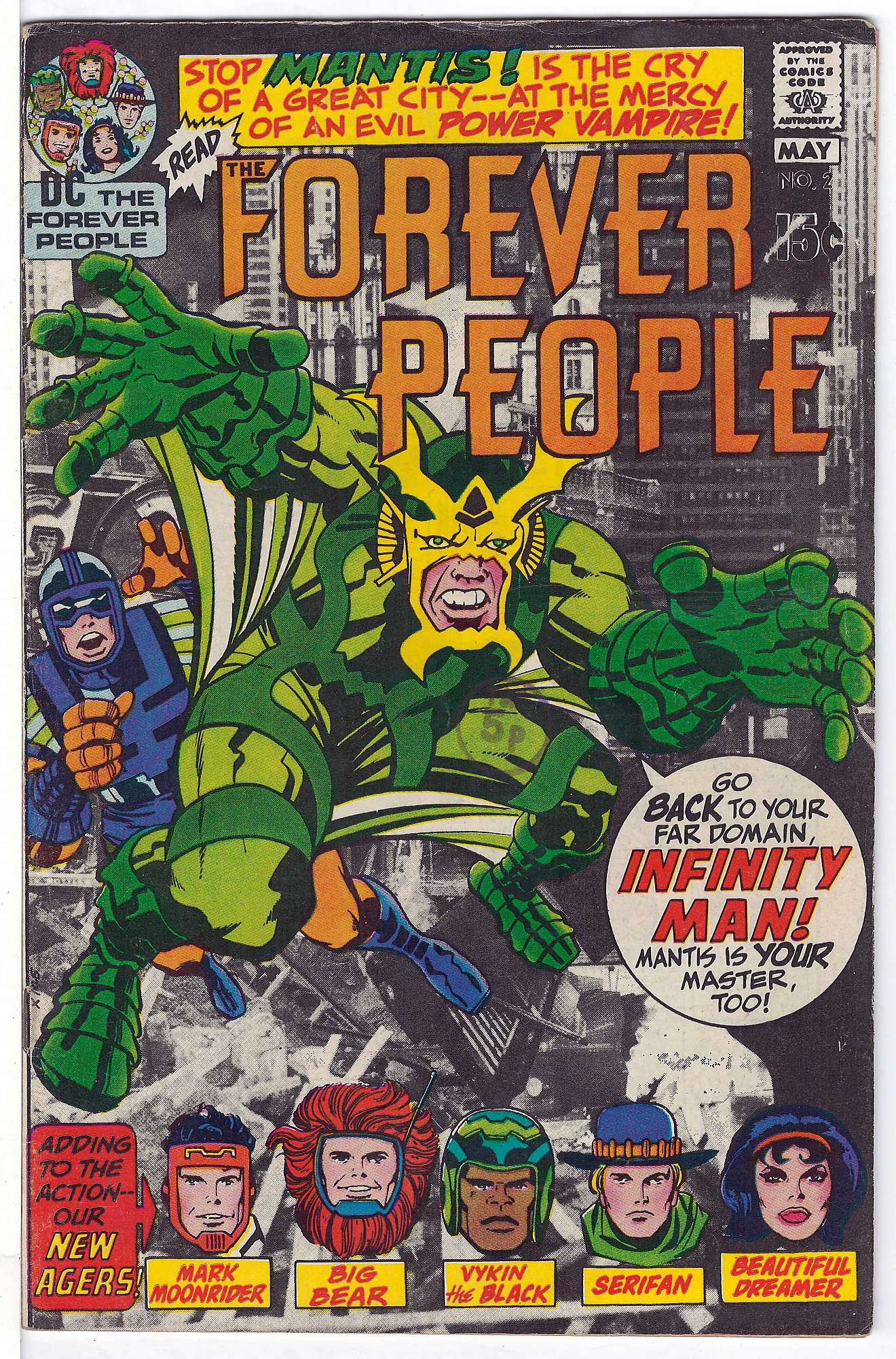 Cover of Forever People (Vol 1) The #2. One of 250,000 Vintage American Comics on sale from Krypton!