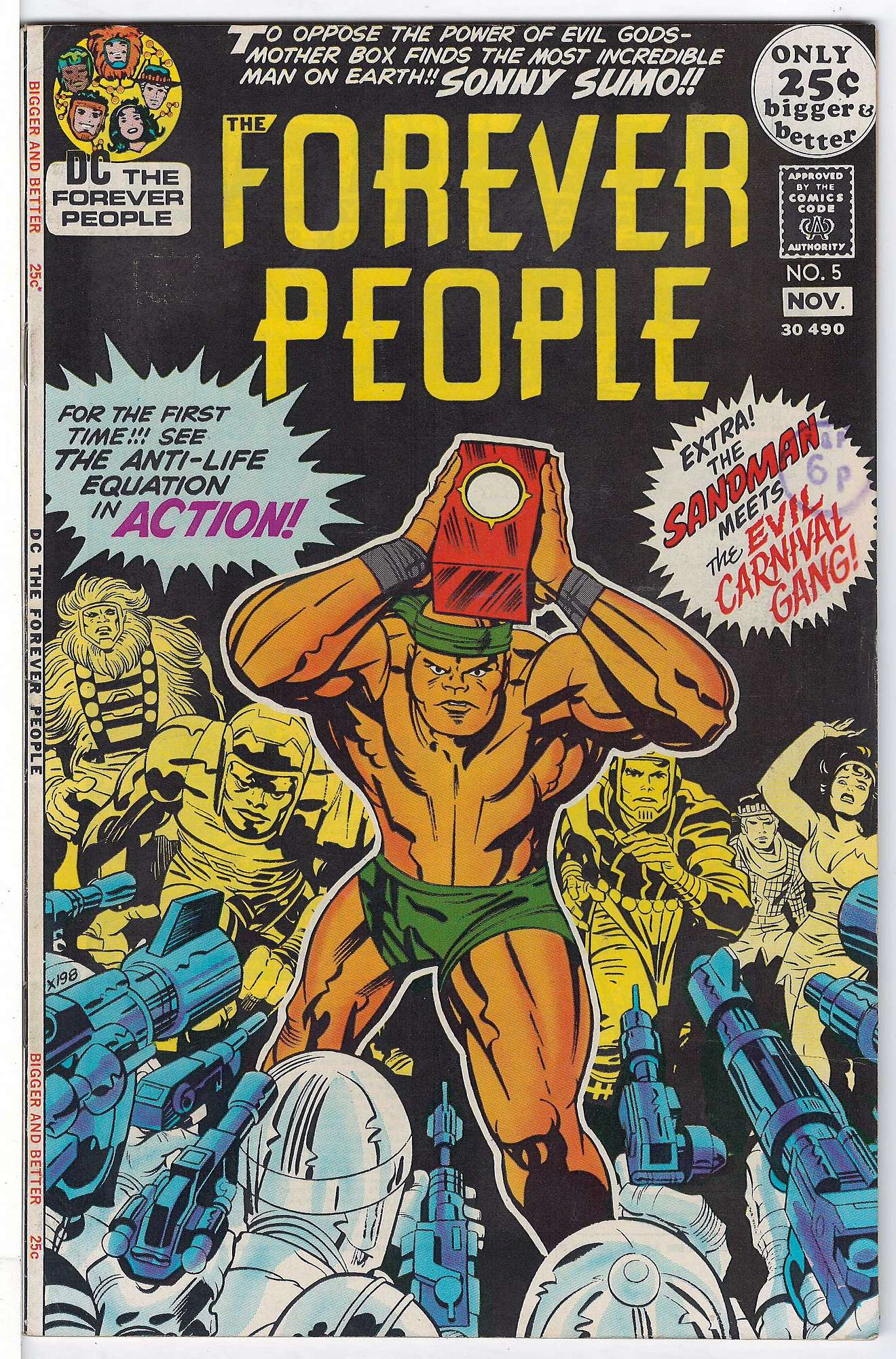 Cover of Forever People (Vol 1) The #5. One of 250,000 Vintage American Comics on sale from Krypton!