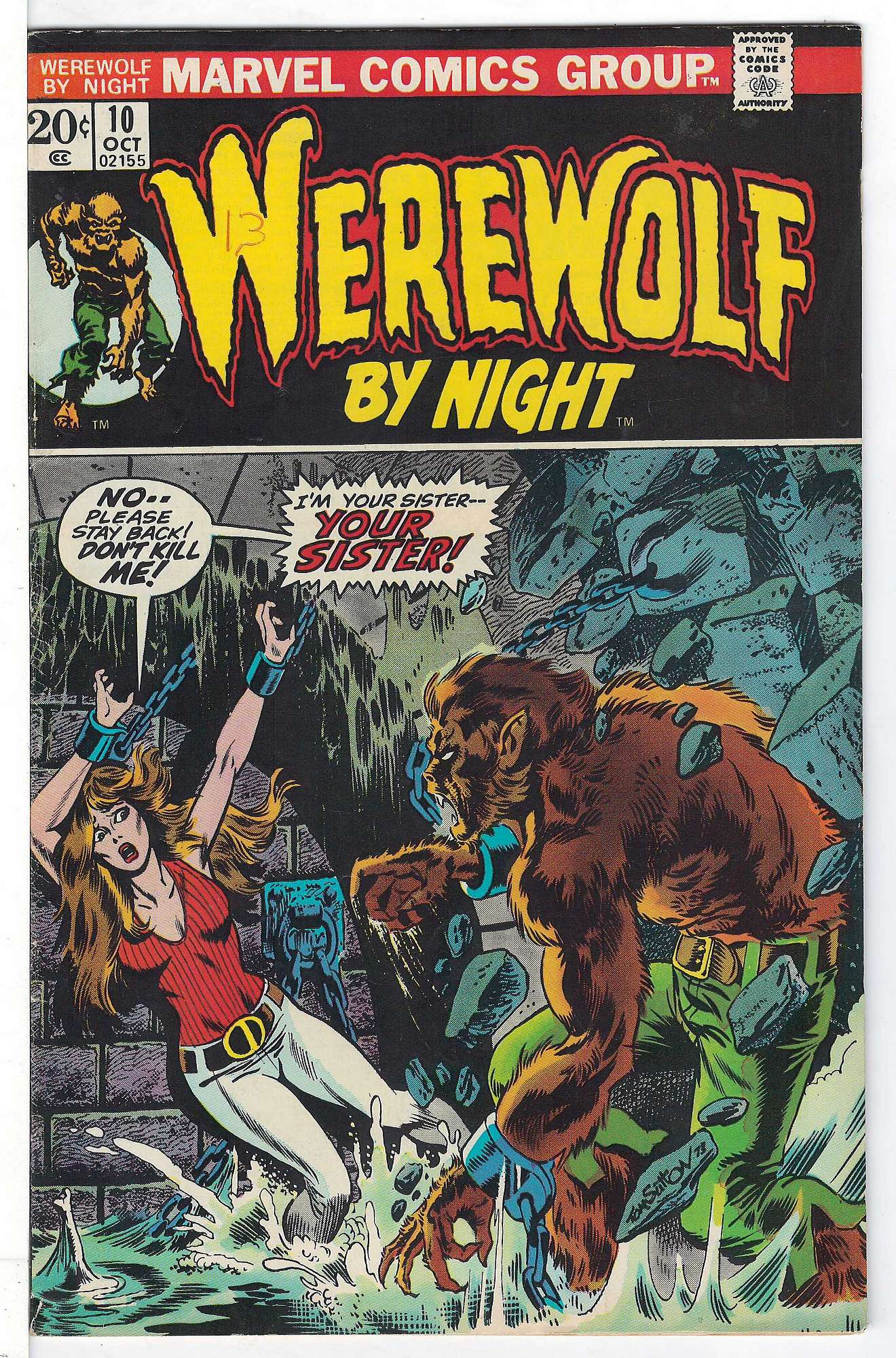 Cover of Werewolf by Night (Vol 1) #10. One of 250,000 Vintage American Comics on sale from Krypton!