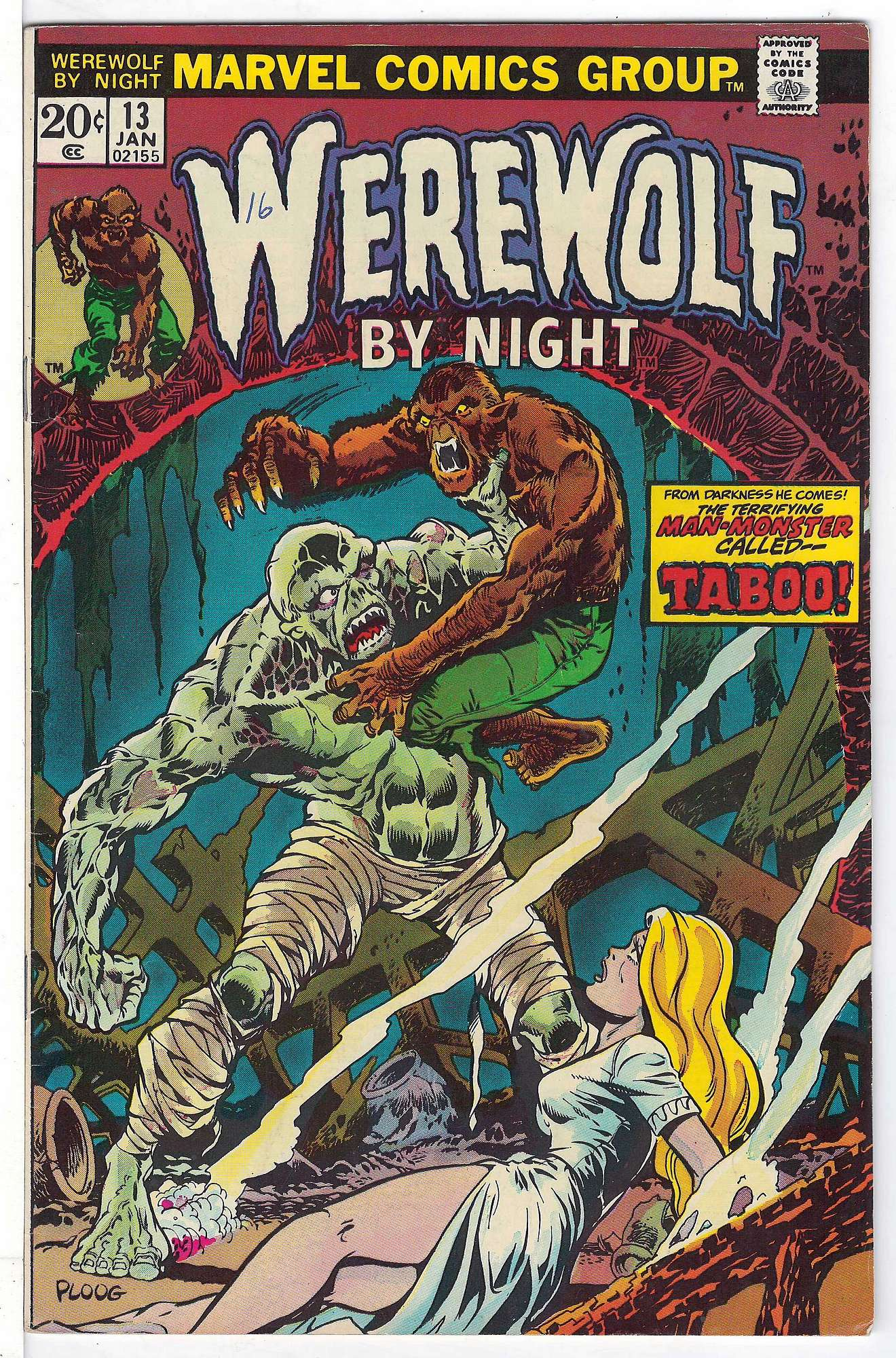 Cover of Werewolf by Night (Vol 1) #13. One of 250,000 Vintage American Comics on sale from Krypton!