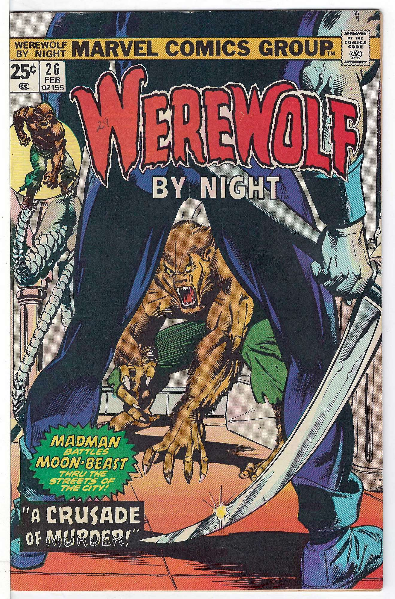 Cover of Werewolf by Night (Vol 1) #26. One of 250,000 Vintage American Comics on sale from Krypton!