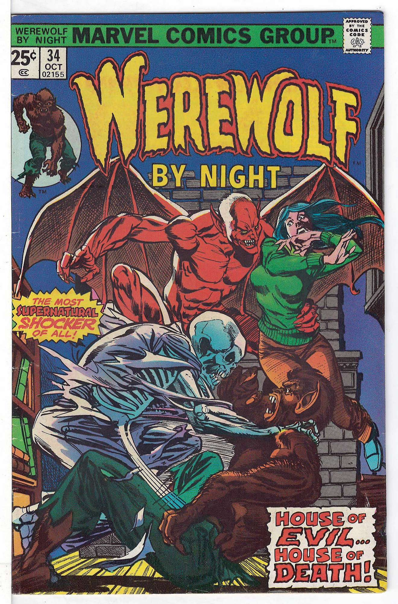 Cover of Werewolf by Night (Vol 1) #34. One of 250,000 Vintage American Comics on sale from Krypton!