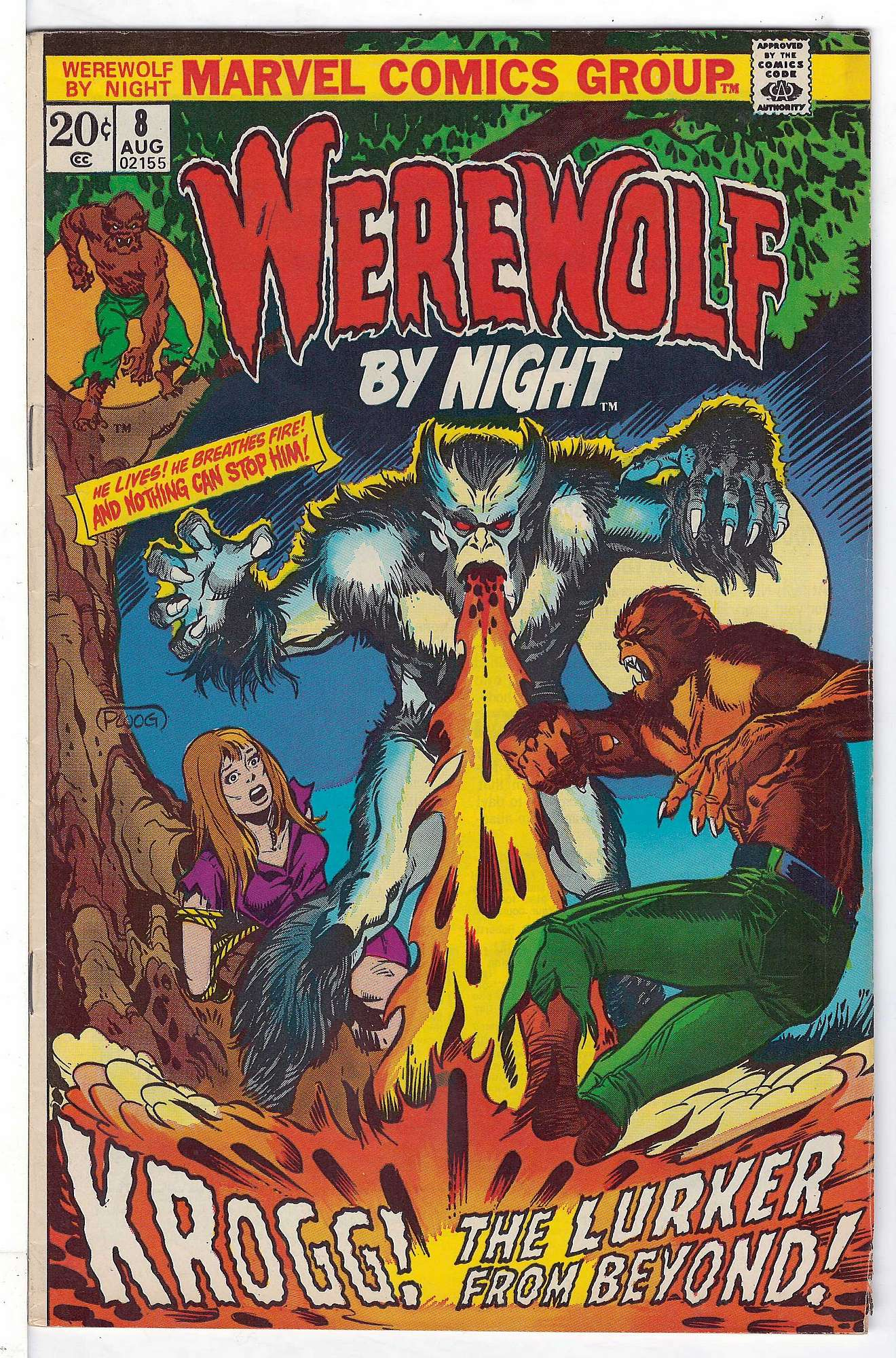 Cover of Werewolf by Night (Vol 1) #8. One of 250,000 Vintage American Comics on sale from Krypton!