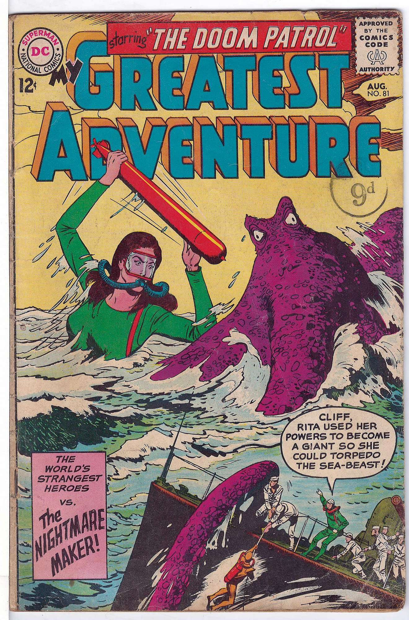 Cover of My Greatest Adventure #81. One of 250,000 Vintage American Comics on sale from Krypton!
