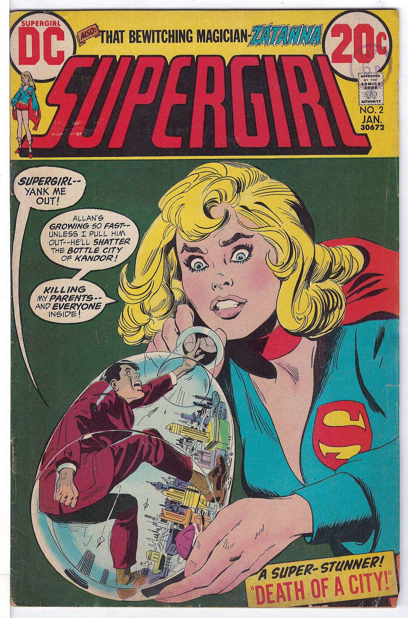 Cover of Supergirl (Vol 1) #2. One of 250,000 Vintage American Comics on sale from Krypton!