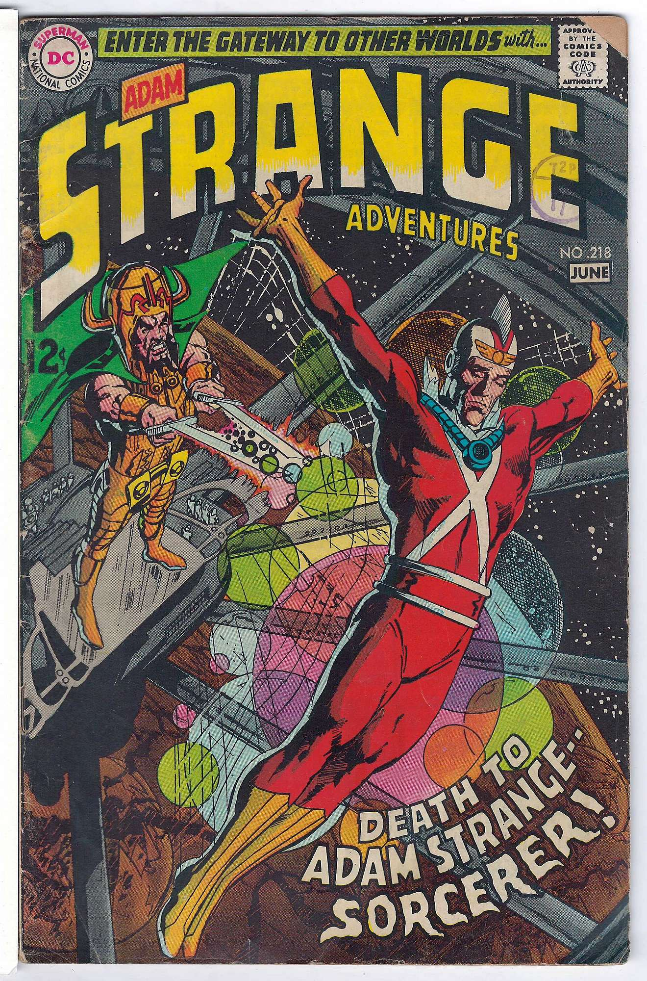 Cover of Strange Adventures (Vol 1) #218. One of 250,000 Vintage American Comics on sale from Krypton!