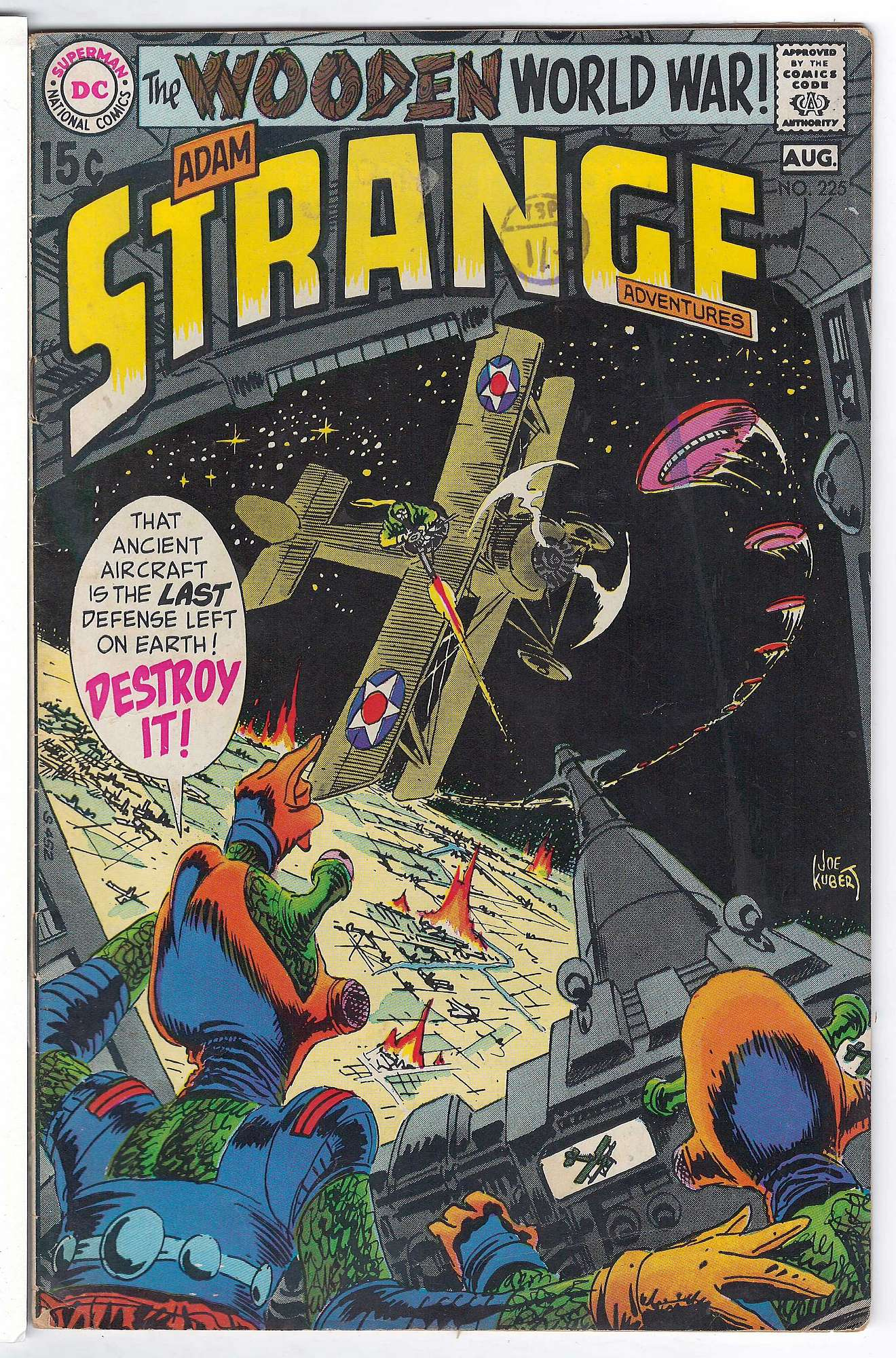 Cover of Strange Adventures (Vol 1) #225. One of 250,000 Vintage American Comics on sale from Krypton!