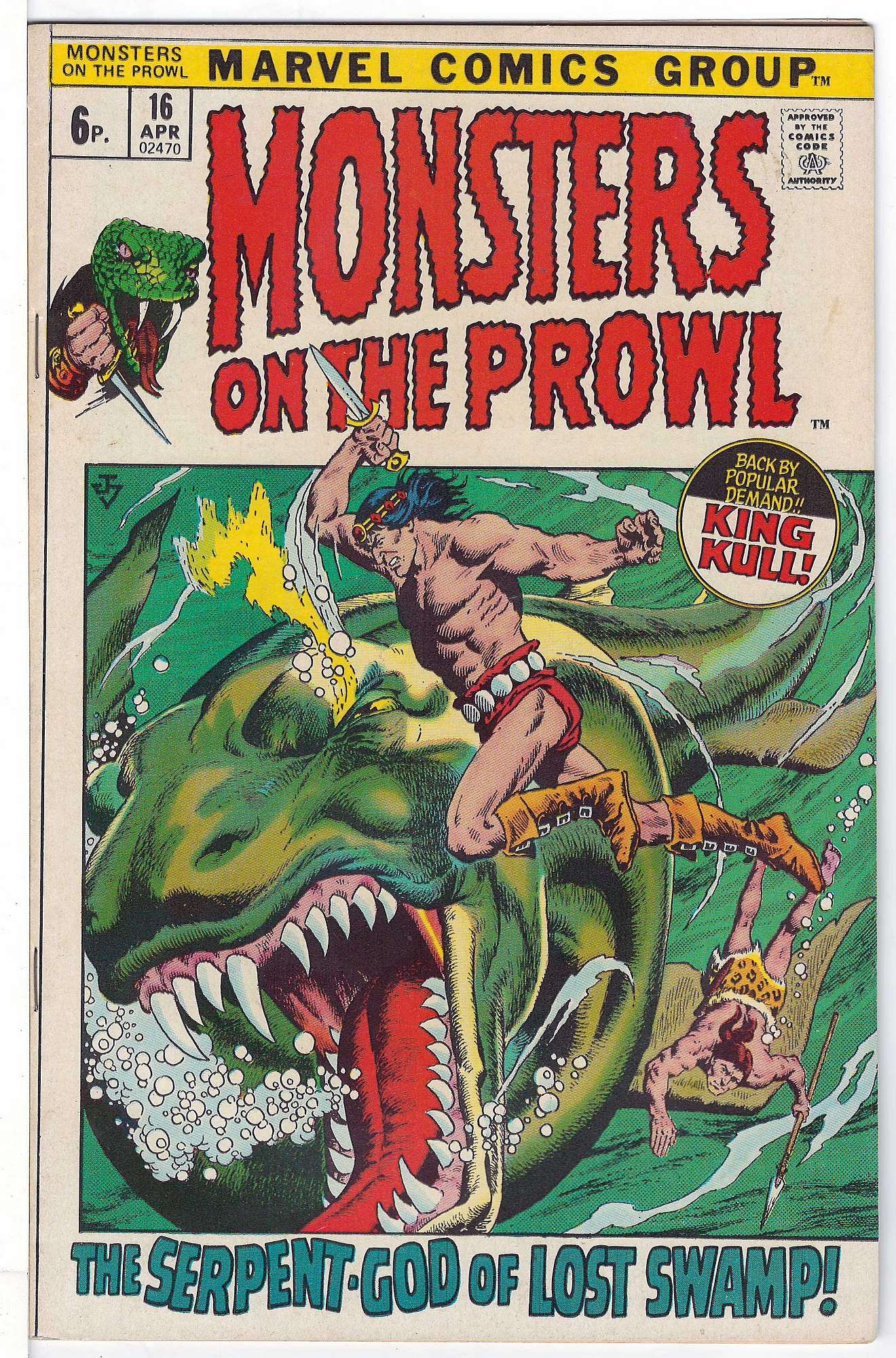Cover of Monsters on the Prowl (Vol 1) #16. One of 250,000 Vintage American Comics on sale from Krypton!