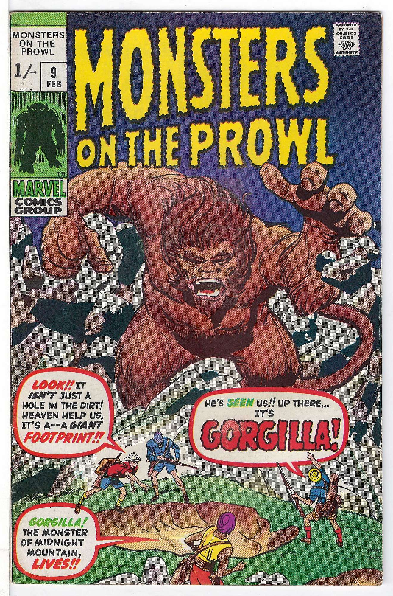 Cover of Monsters on the Prowl (Vol 1) #9. One of 250,000 Vintage American Comics on sale from Krypton!