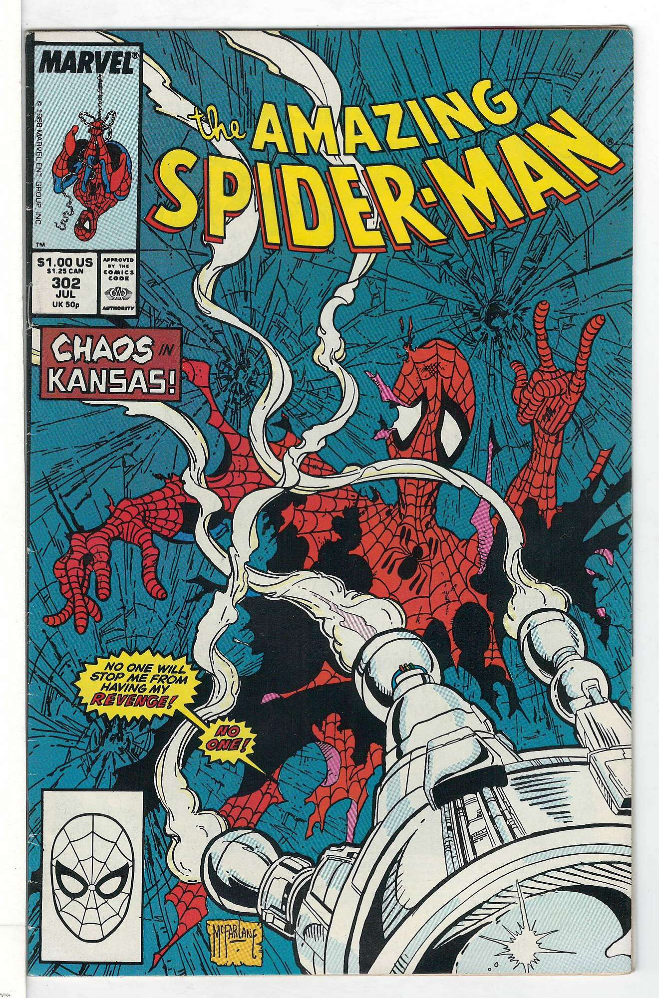 Cover of Amazing Spider-Man (Vol 1) #302. One of 250,000 Vintage American Comics on sale from Krypton!