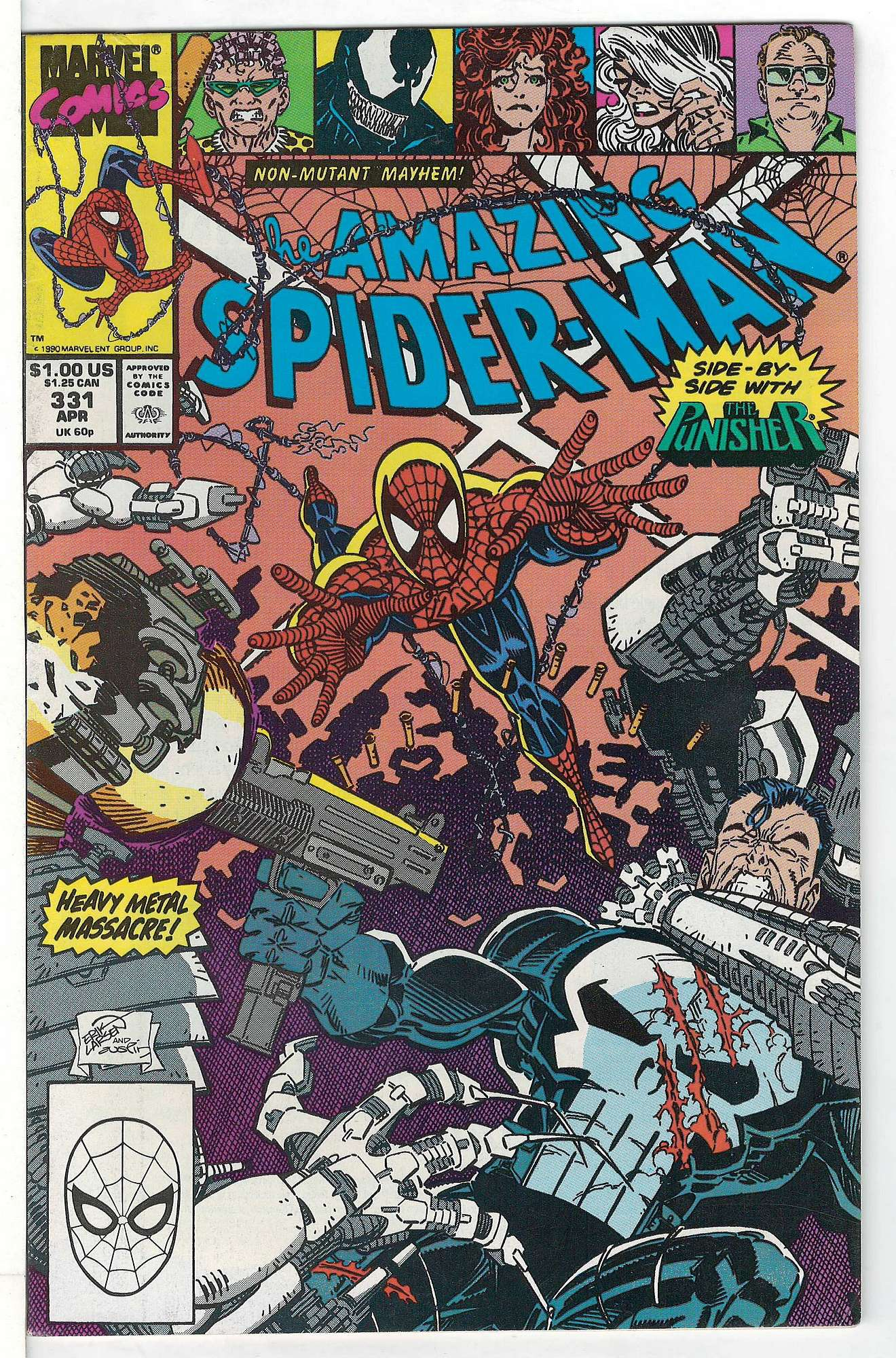 Cover of Amazing Spider-Man (Vol 1) #331. One of 250,000 Vintage American Comics on sale from Krypton!
