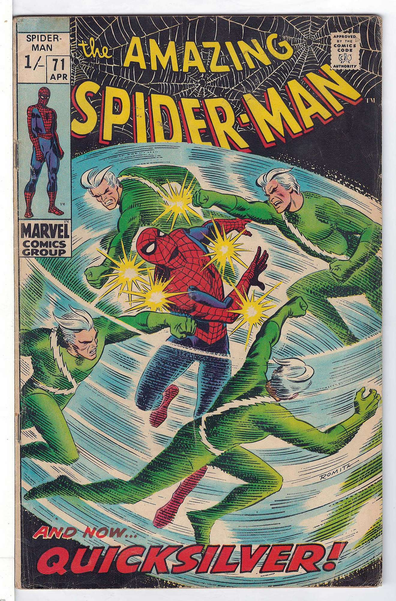 Cover of Amazing Spider-Man (Vol 1) #71. One of 250,000 Vintage American Comics on sale from Krypton!