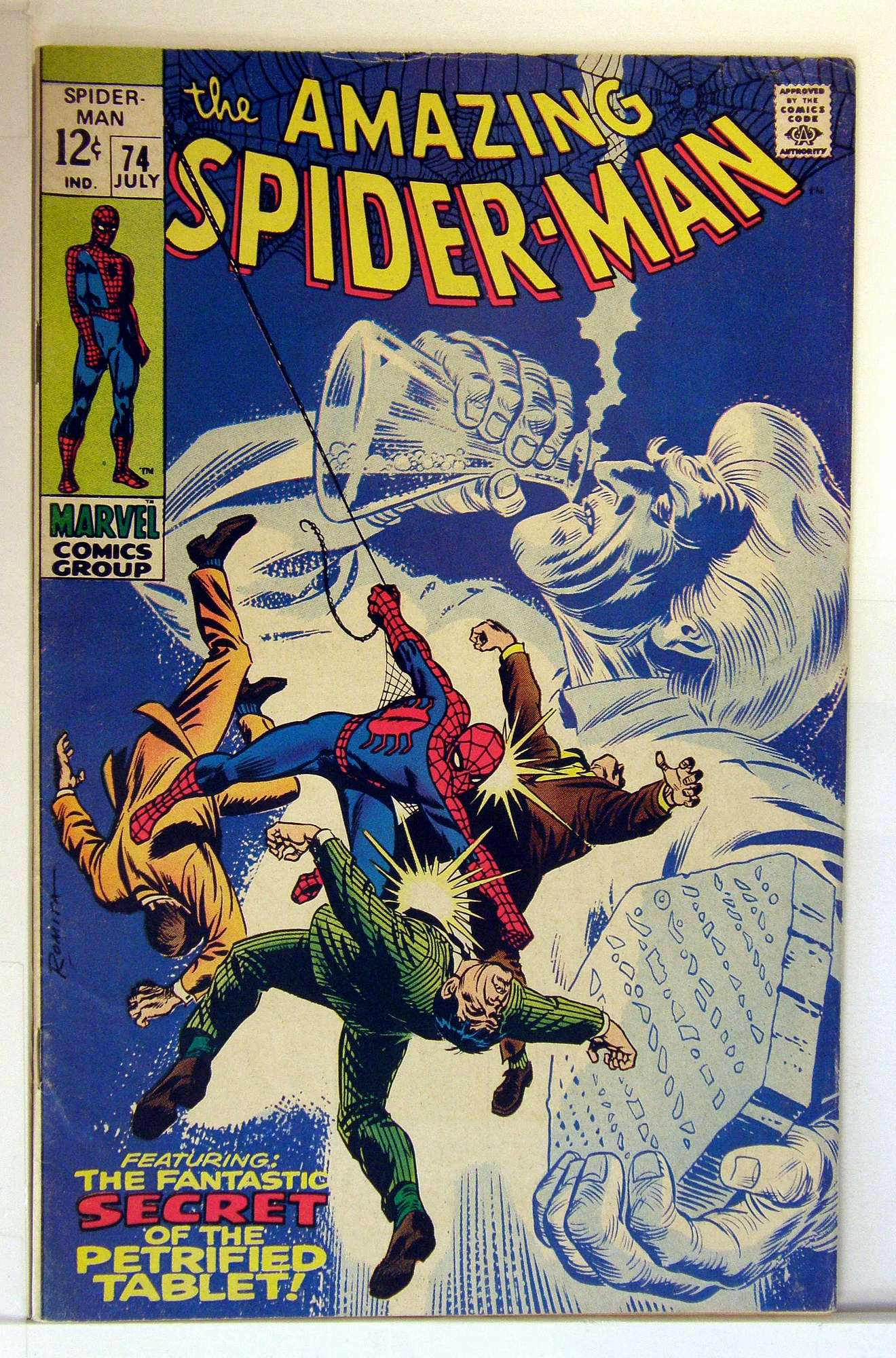Cover of Amazing Spider-Man (Vol 1) #74. One of 250,000 Vintage American Comics on sale from Krypton!