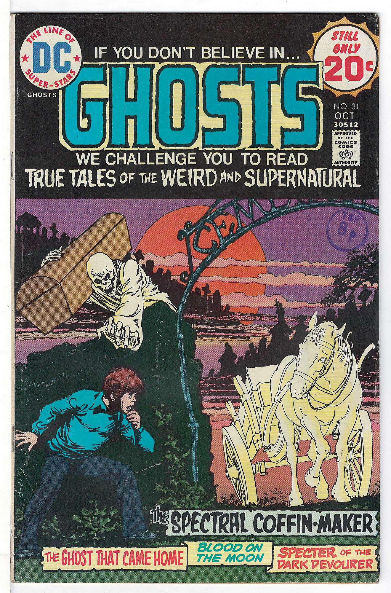 Cover of Ghosts (Vol 1) #31. One of 250,000 Vintage American Comics on sale from Krypton!