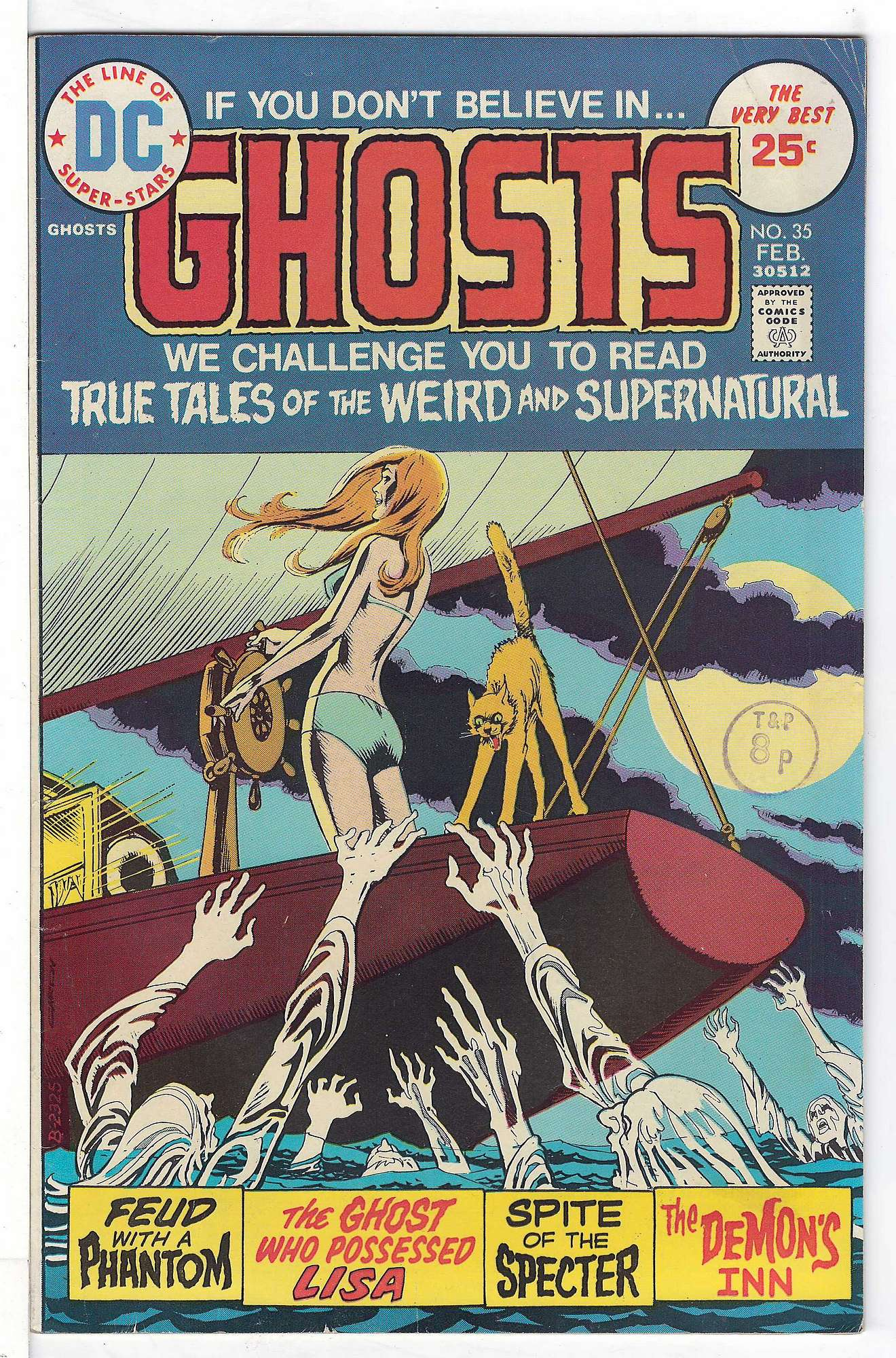 Cover of Ghosts (Vol 1) #35. One of 250,000 Vintage American Comics on sale from Krypton!
