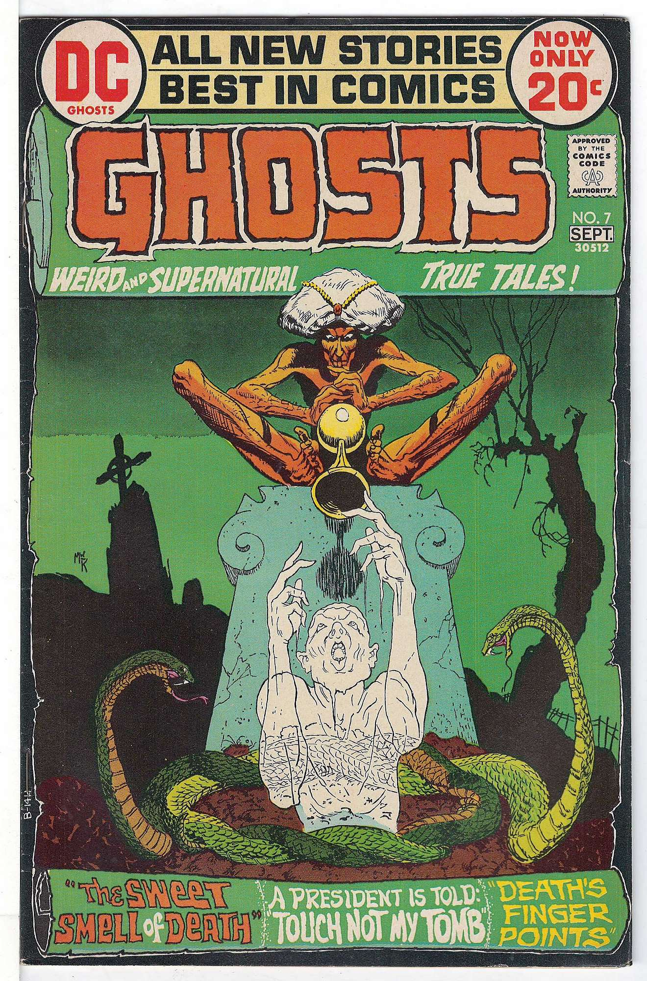 Cover of Ghosts (Vol 1) #7. One of 250,000 Vintage American Comics on sale from Krypton!