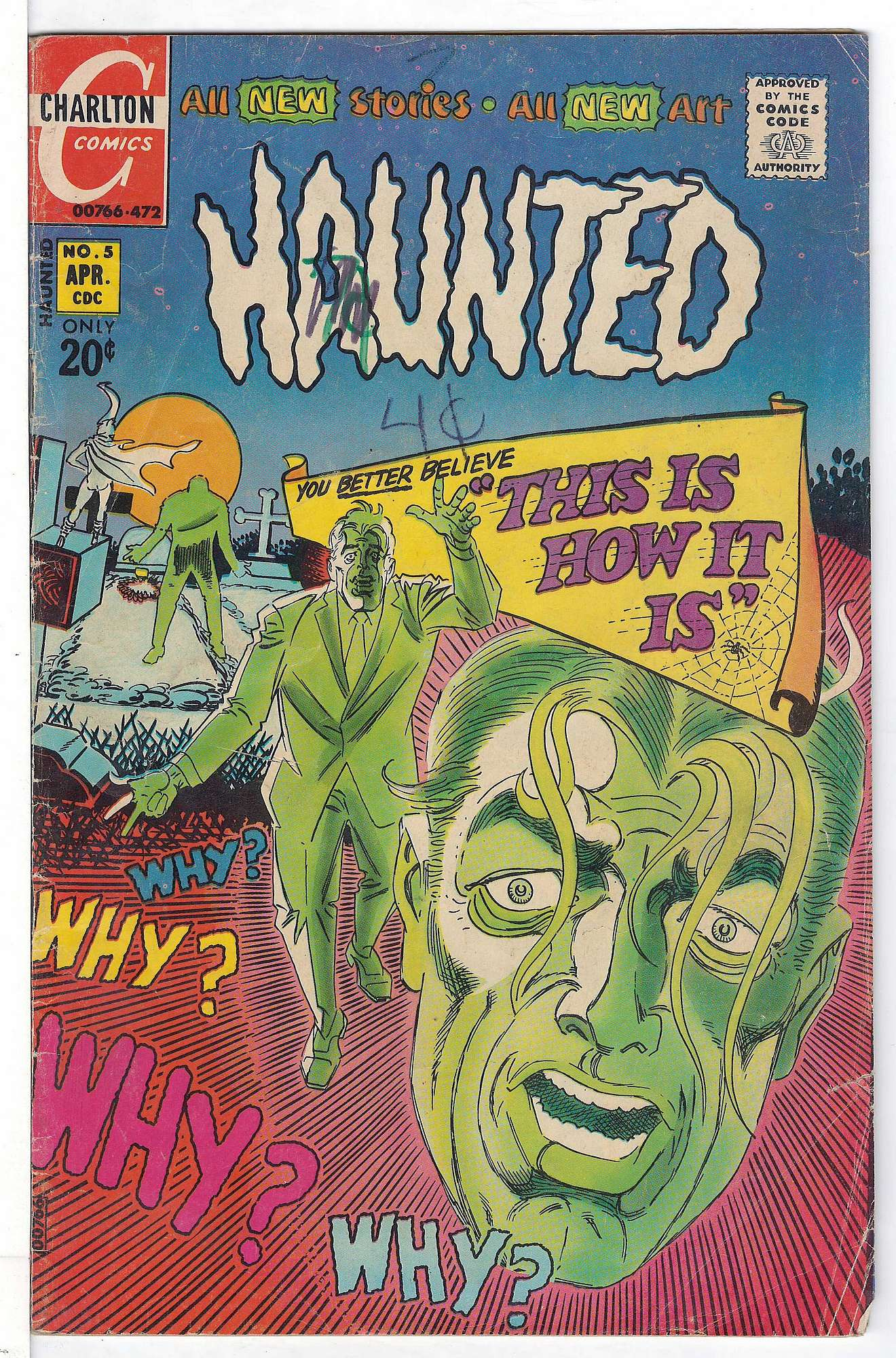 Cover of Haunted (Vol 1) #5. One of 250,000 Vintage American Comics on sale from Krypton!