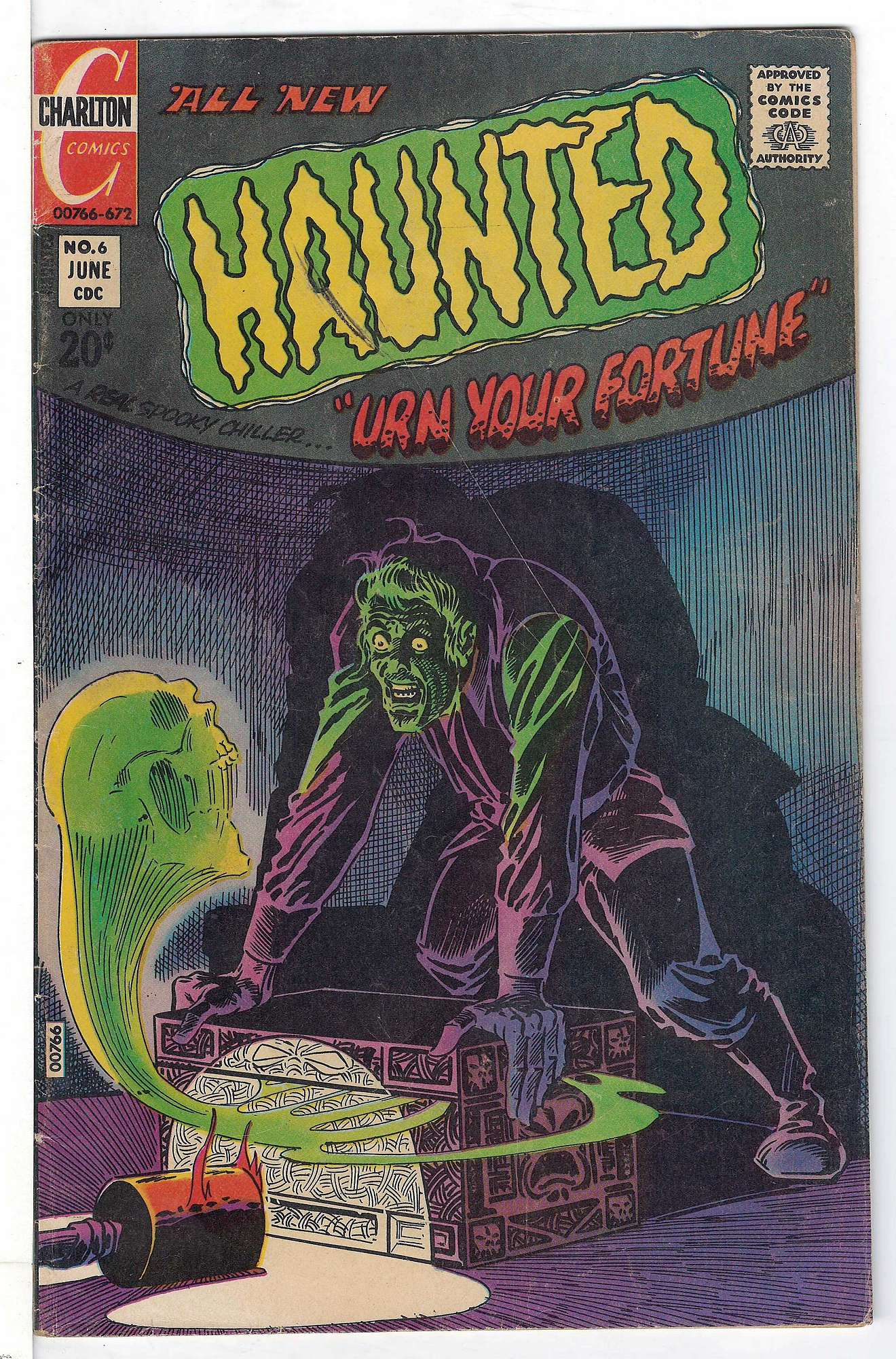 Cover of Haunted (Vol 1) #6. One of 250,000 Vintage American Comics on sale from Krypton!