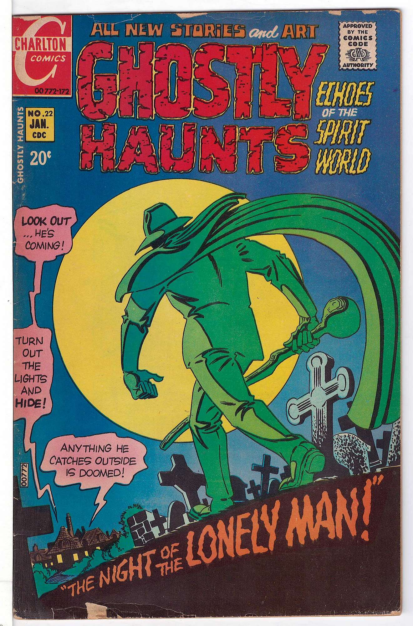 Cover of Ghostly Haunts (Vol 1) #22. One of 250,000 Vintage American Comics on sale from Krypton!