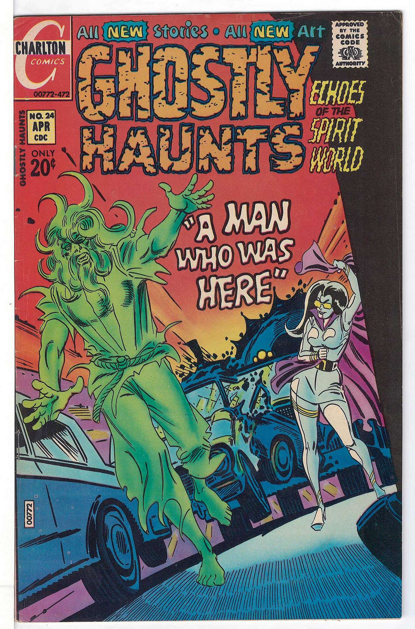 Cover of Ghostly Haunts (Vol 1) #24. One of 250,000 Vintage American Comics on sale from Krypton!
