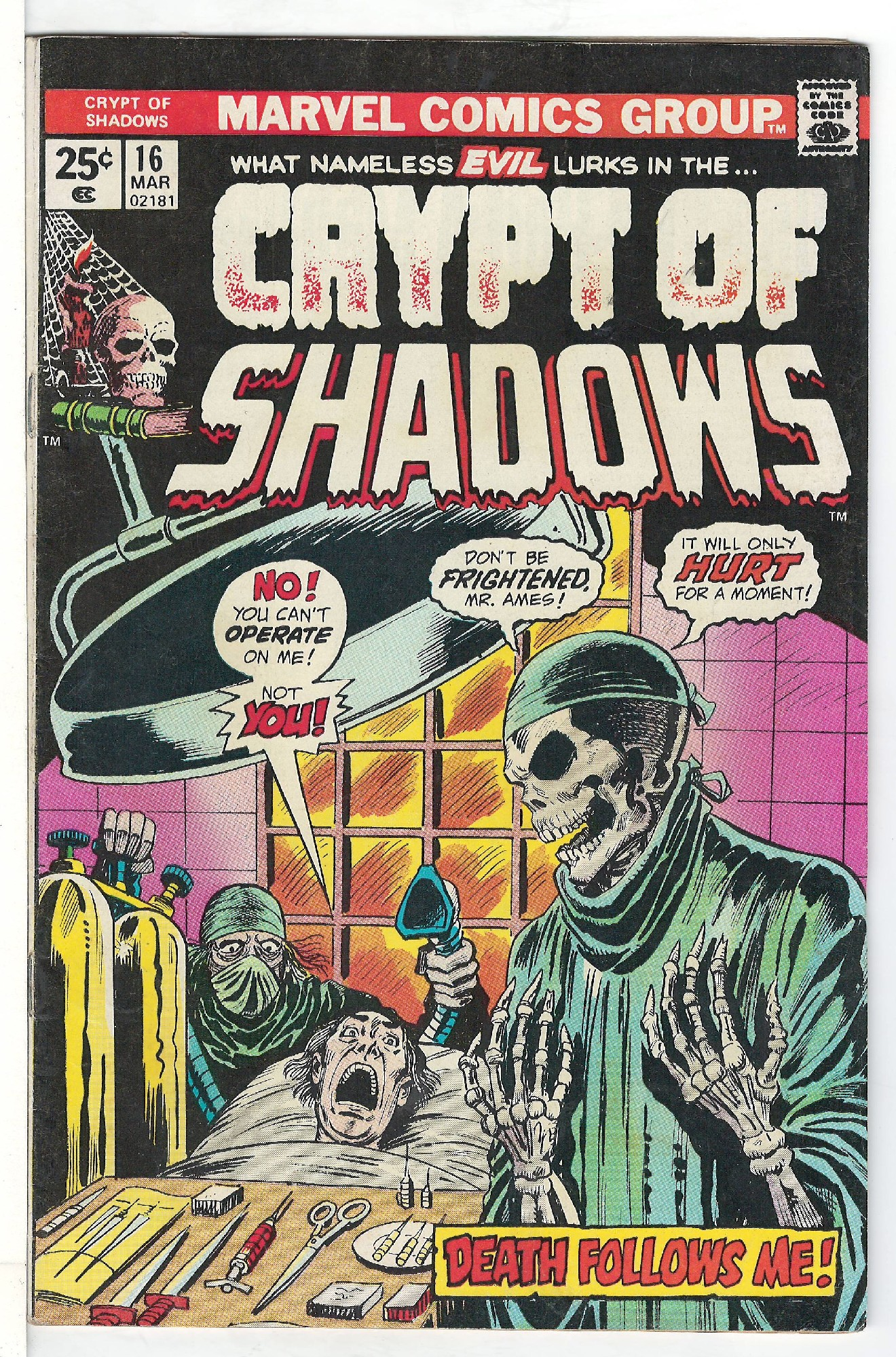 Cover of Crypt of Shadows (Vol 1) #16. One of 250,000 Vintage American Comics on sale from Krypton!